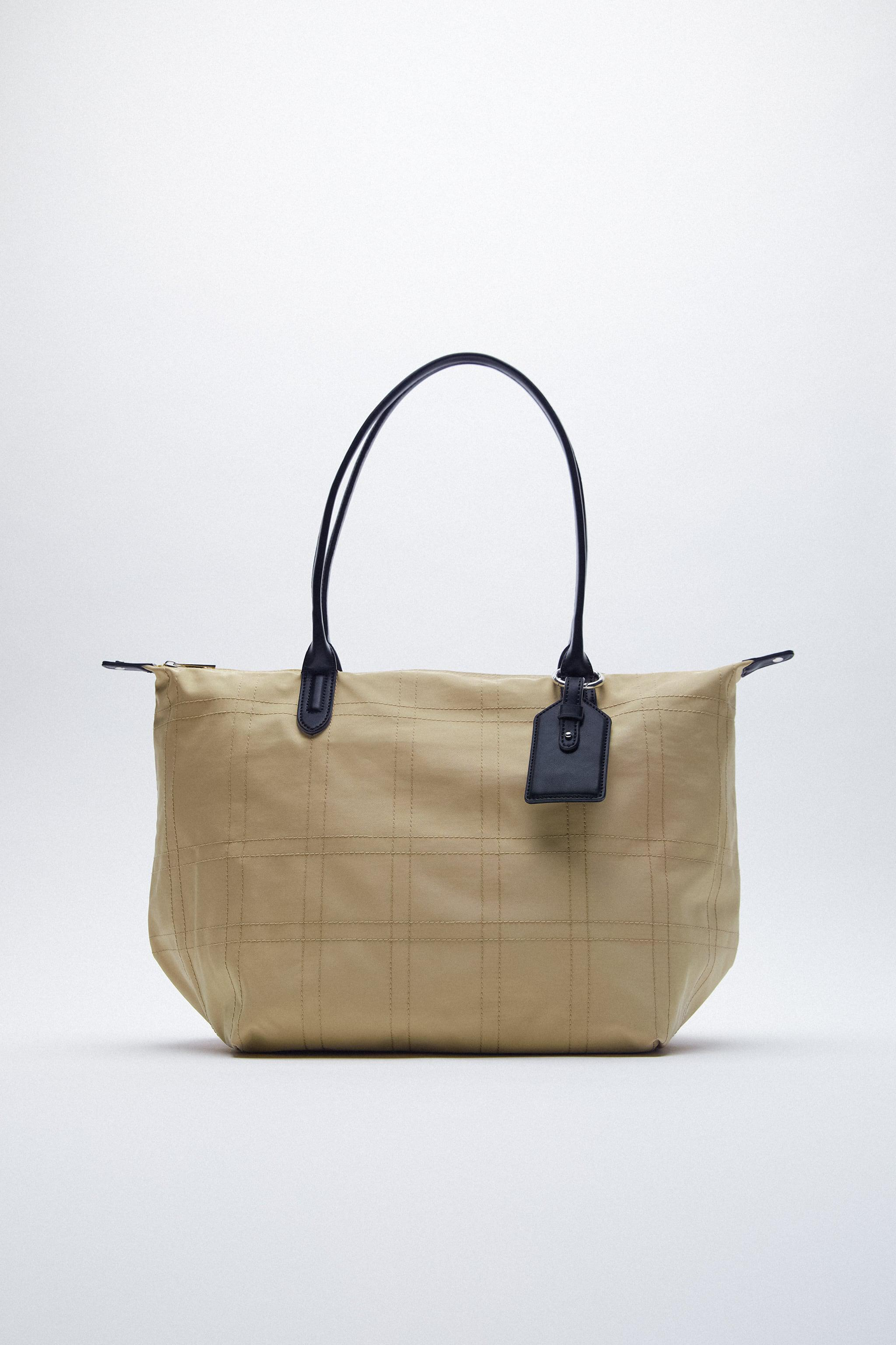 NYLON TOTE BAG WITH TOPSTITCHING 3