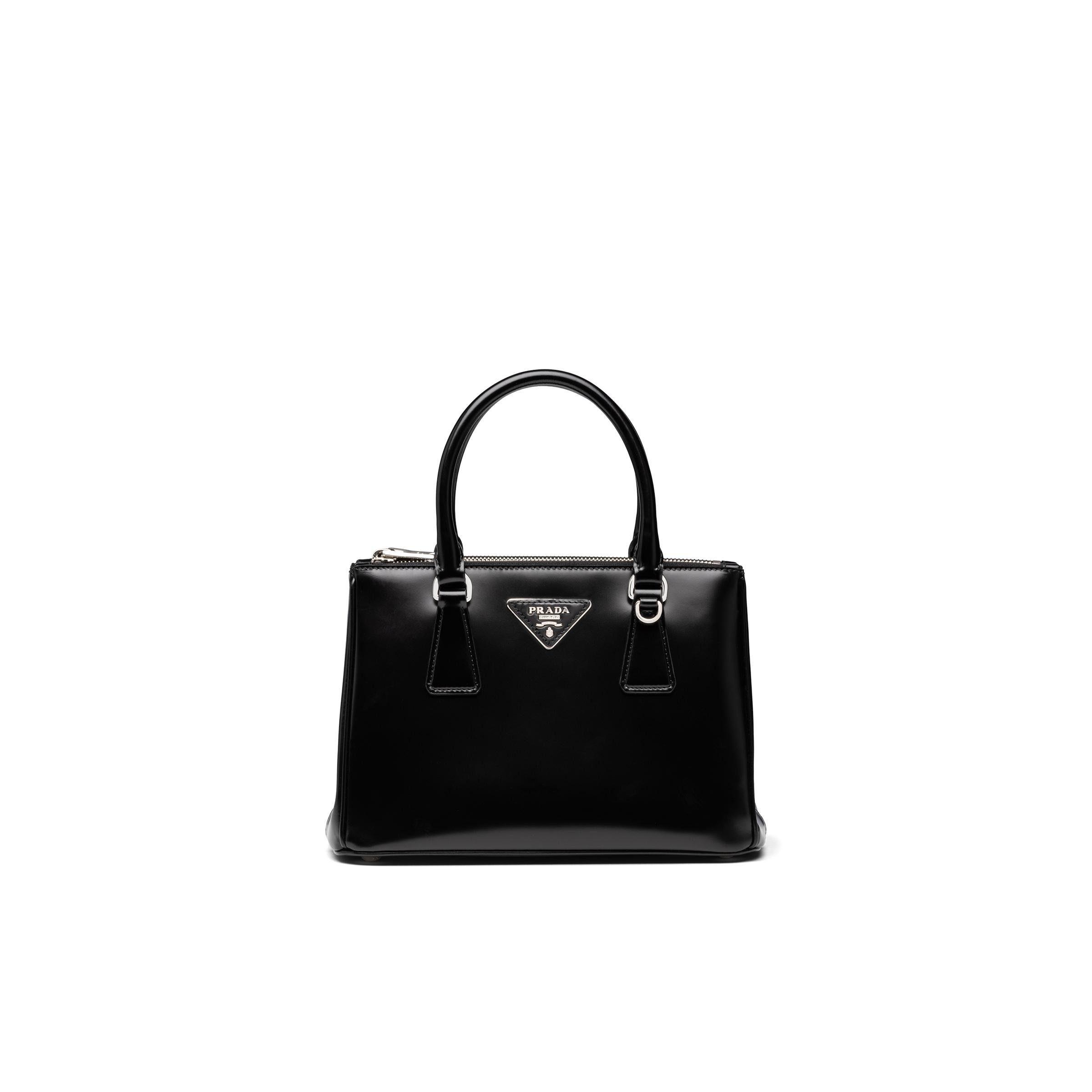 Galleria Brushed Leather Small Bag Women Black