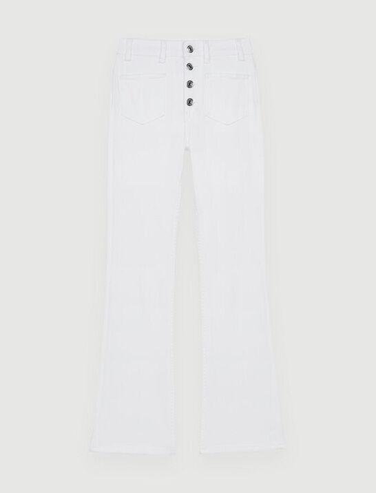 FLARED JEANS WITH POCKETS AND BUTTONS 4