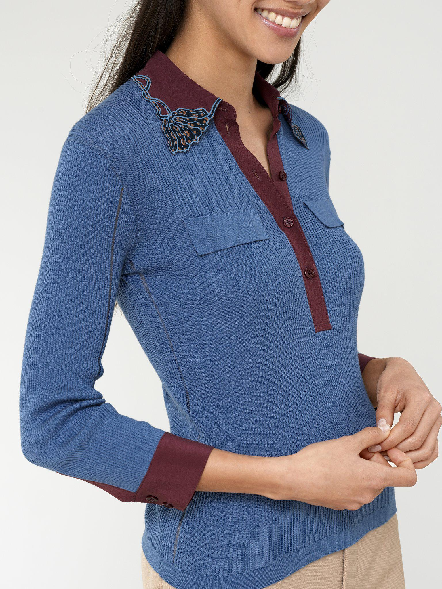 COLLARED KNIT BLOUSE 3