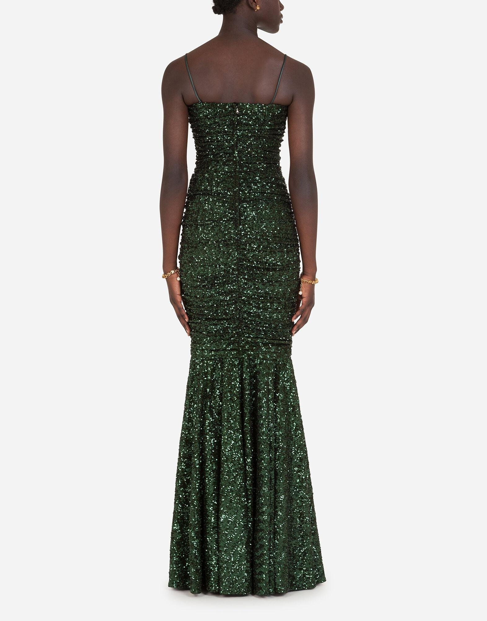 Long sequined dress 1