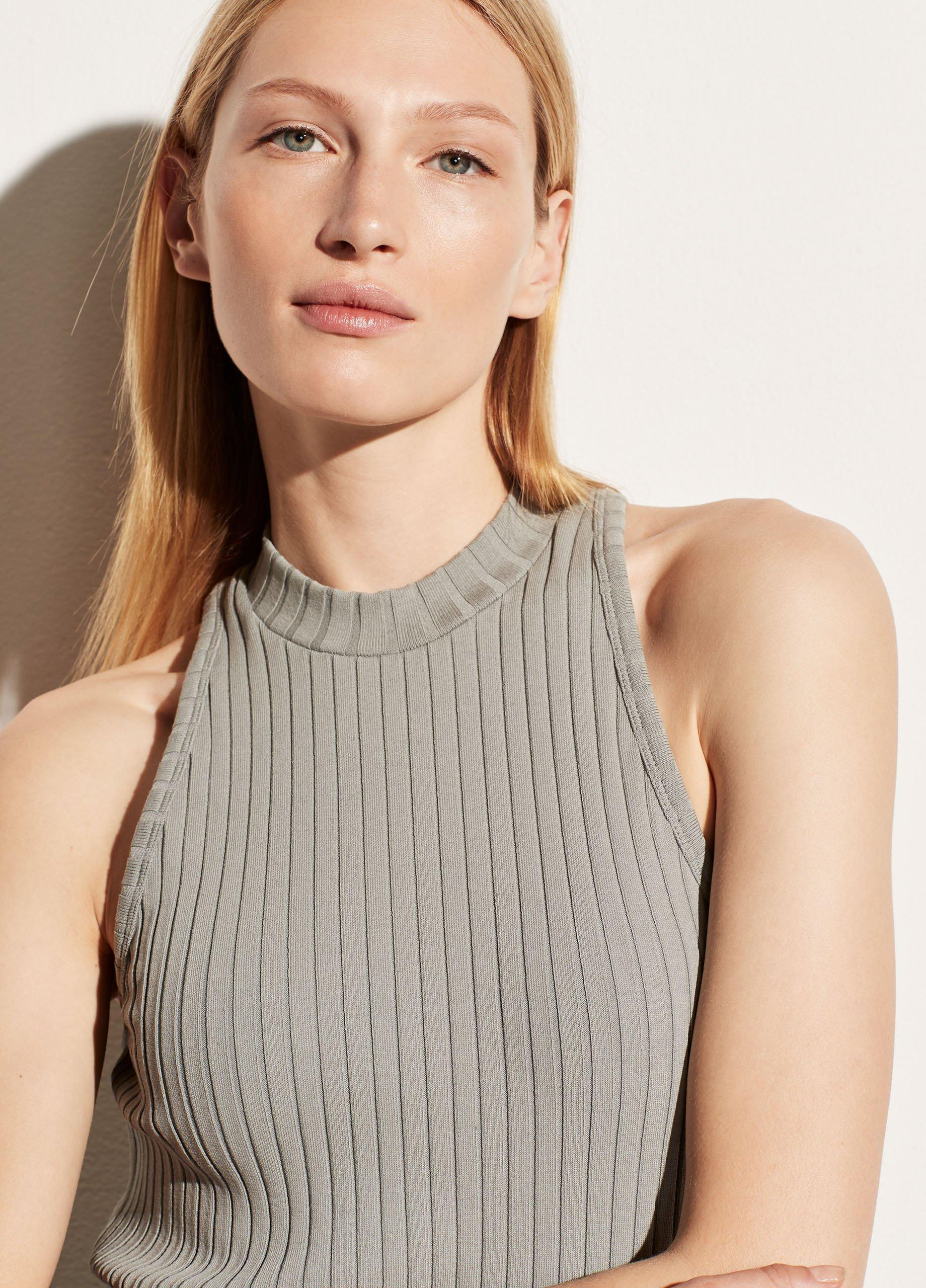 Ribbed High Neck Shell