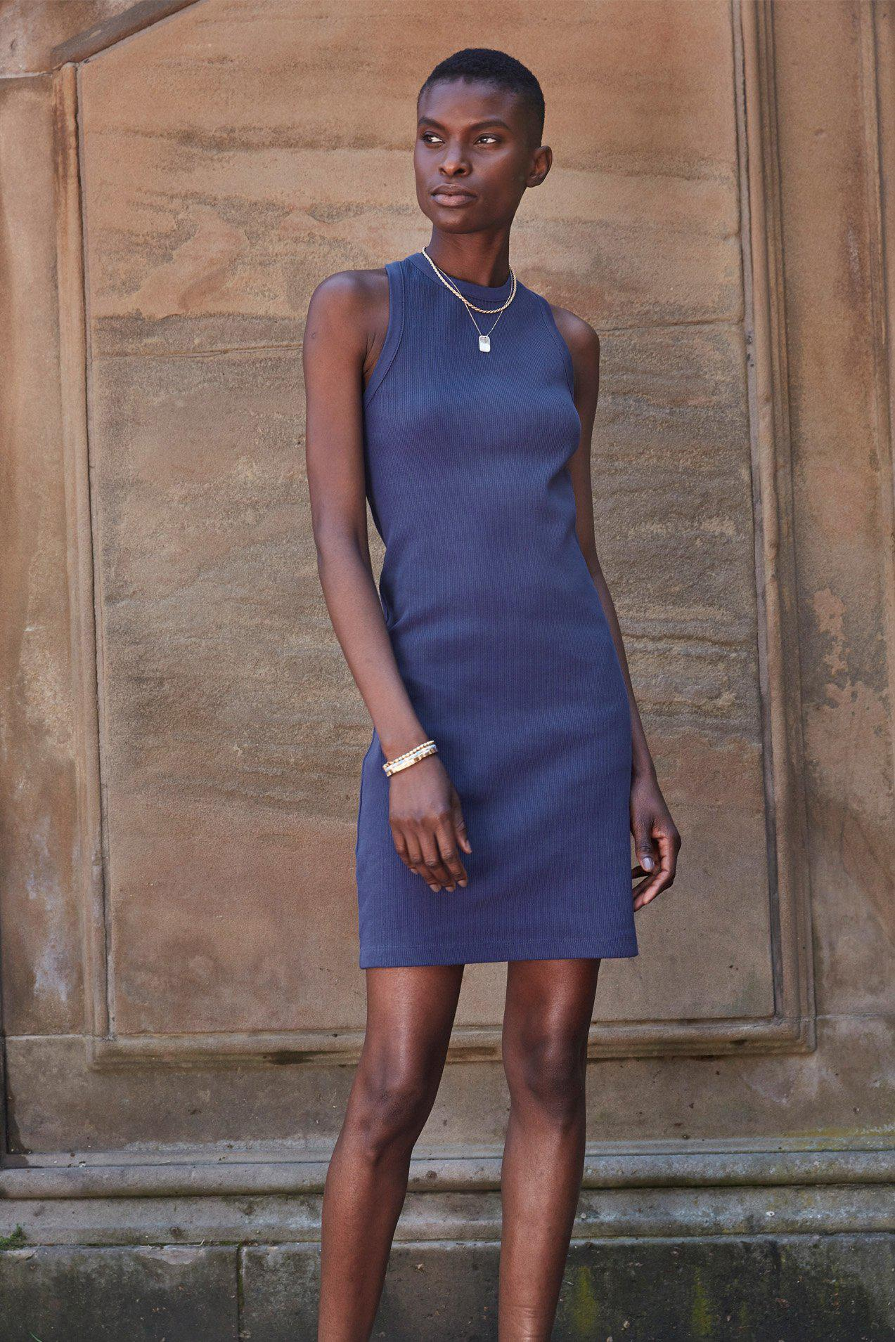 The Not So Basic Dress in Perfect Blue