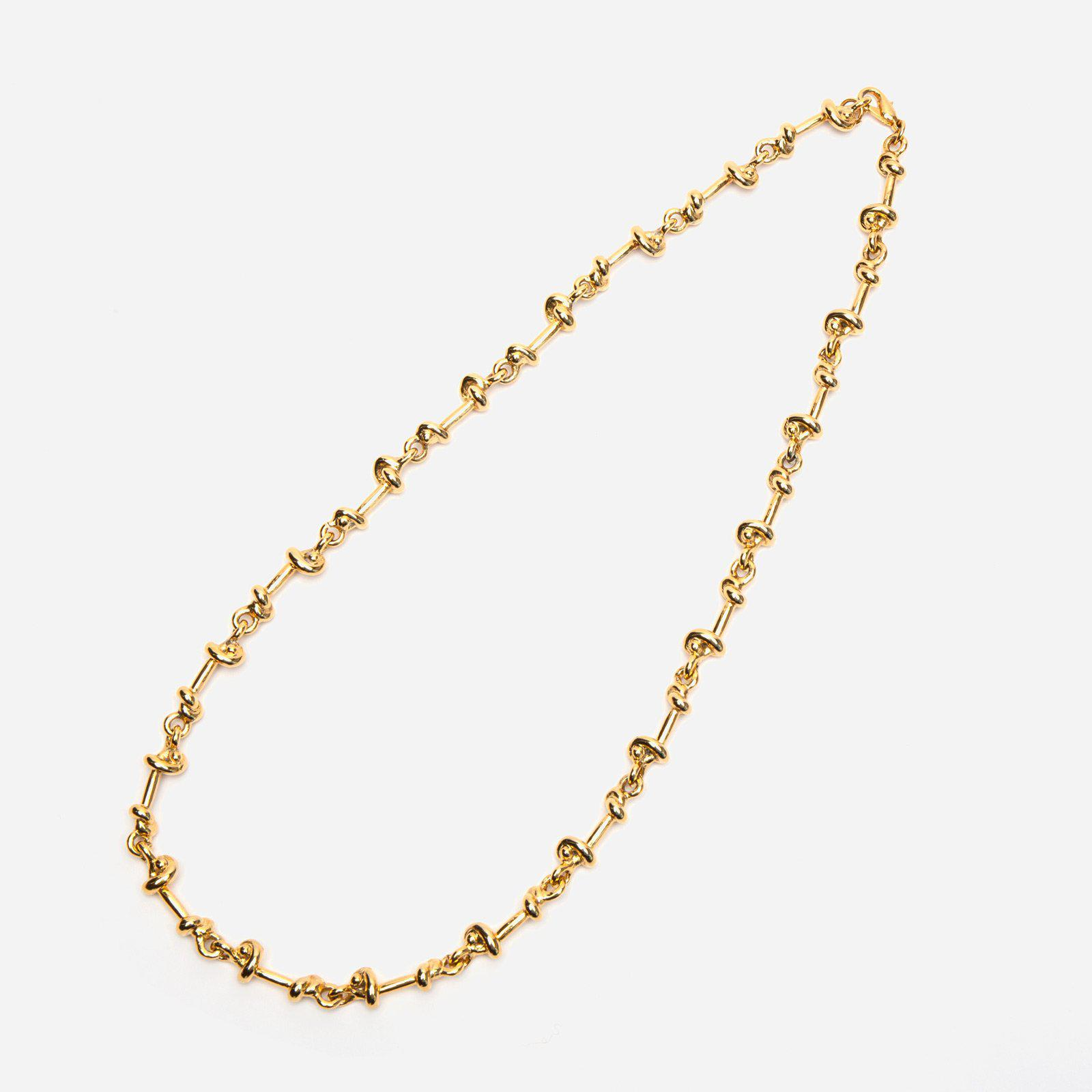 Gold Knotted Chain Necklace