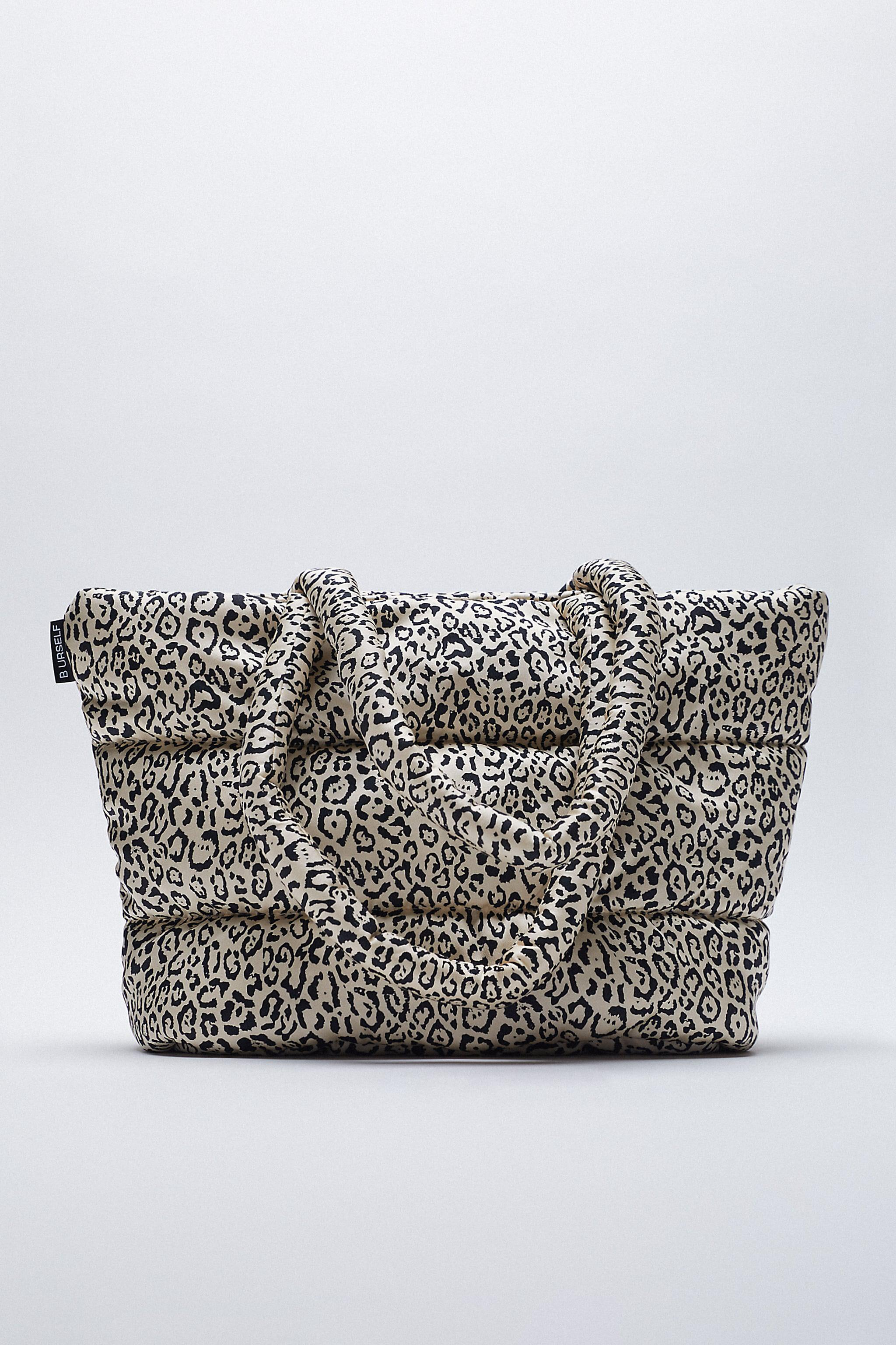 ANIMAL PRINT QUILTED TOTE BAG