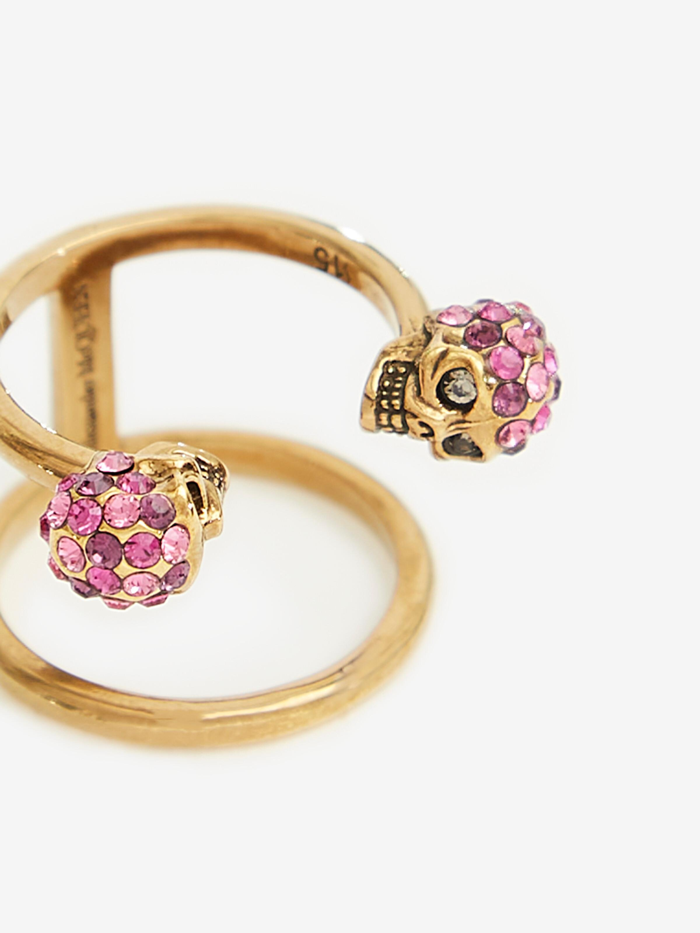 Twin Skull Double Ring 2