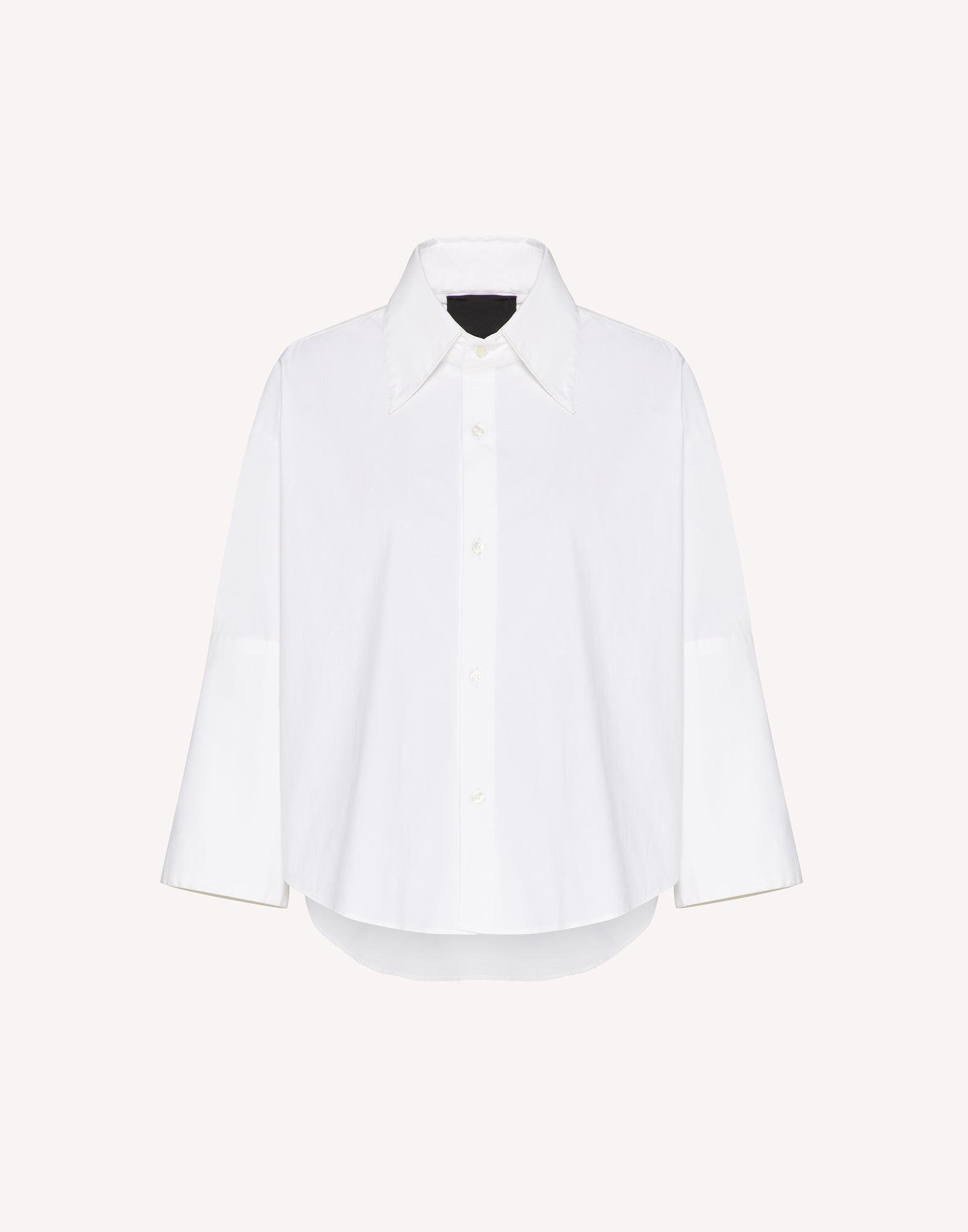 THE BLACK TAG. - COTTON POPLIN SHIRT WITH POINT D'ESPRIT TULLE 4