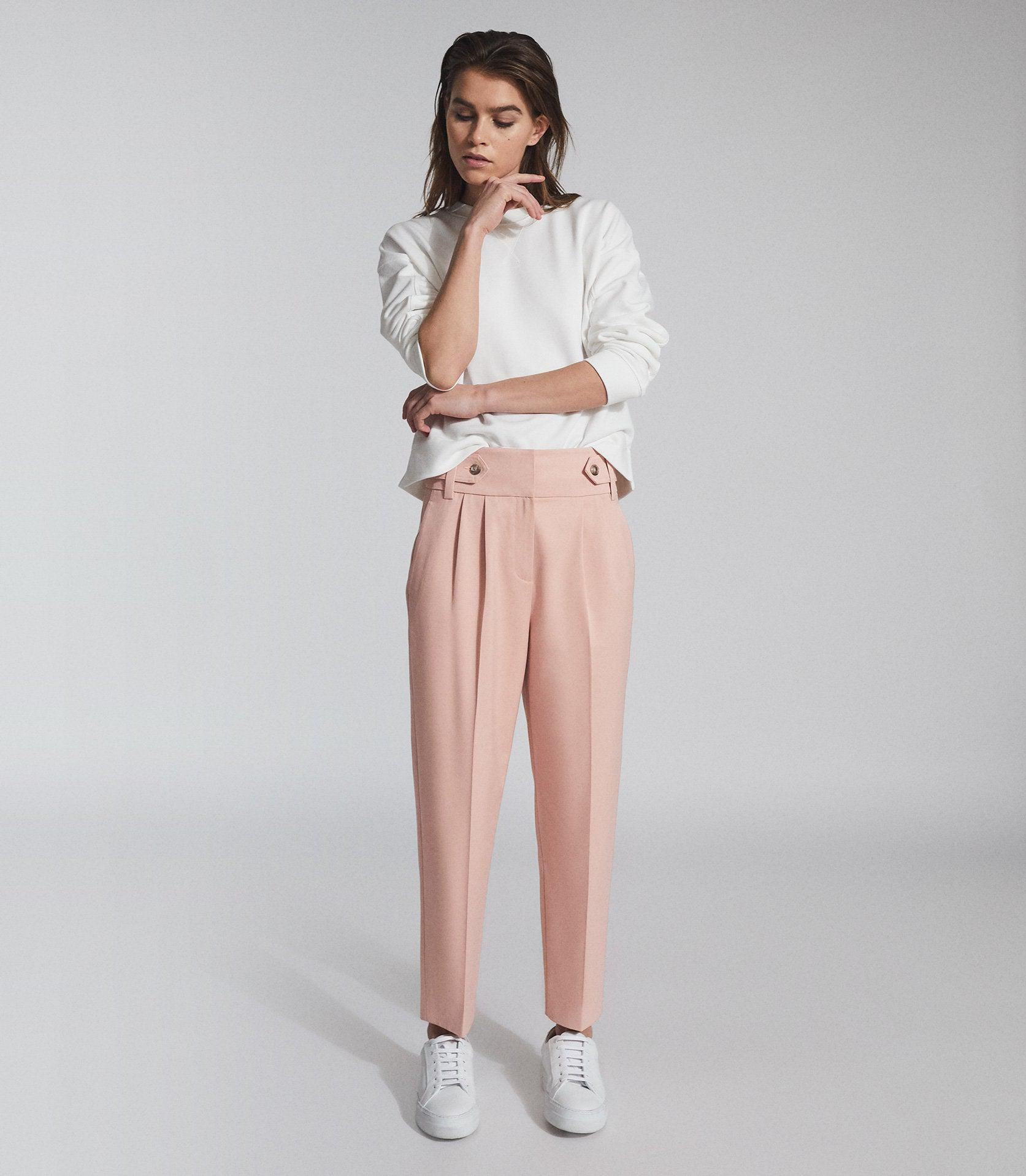 STEVIE - HIGH WAISTED CROPPED PANTS