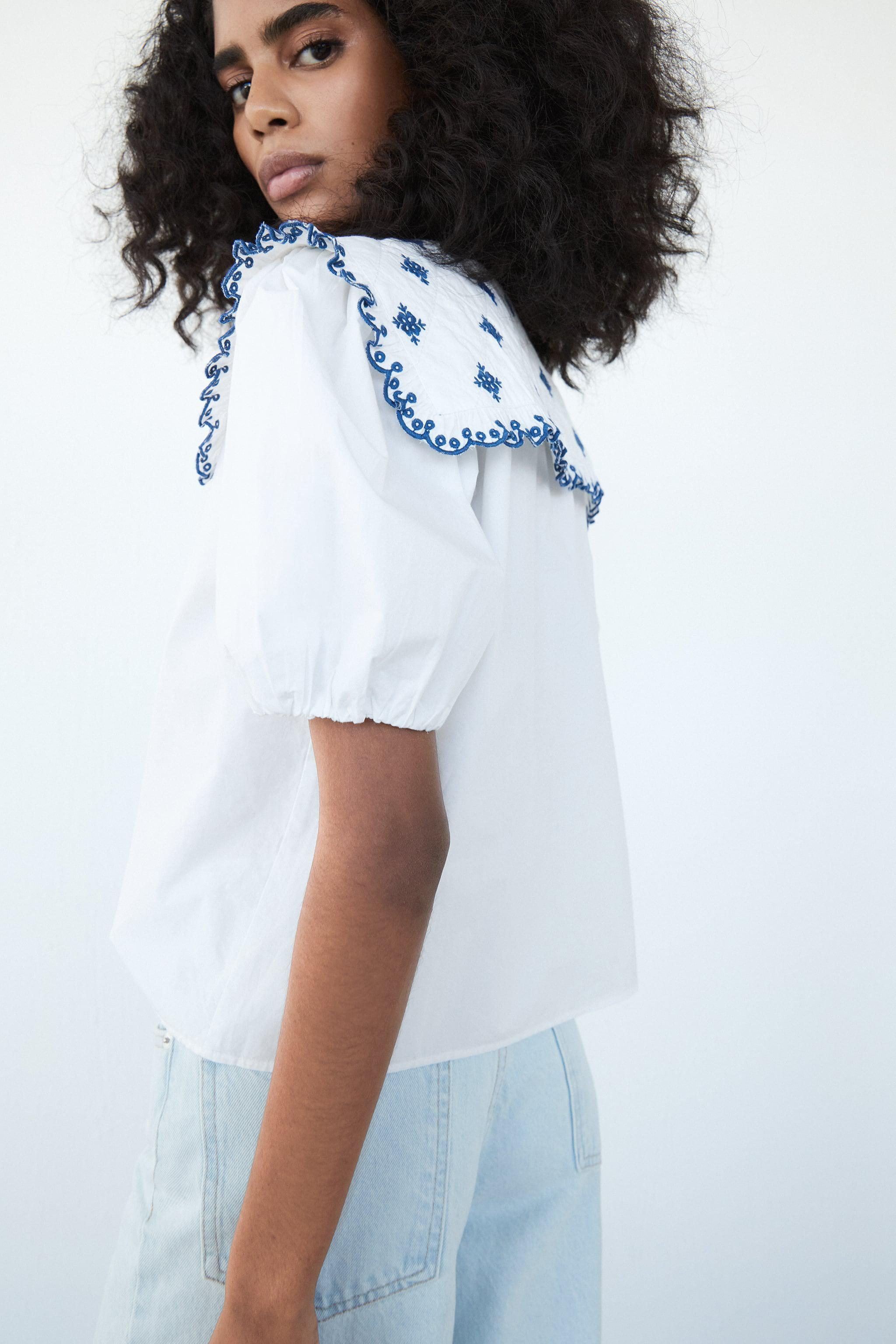 EMBROIDERED POPLIN TOP 4
