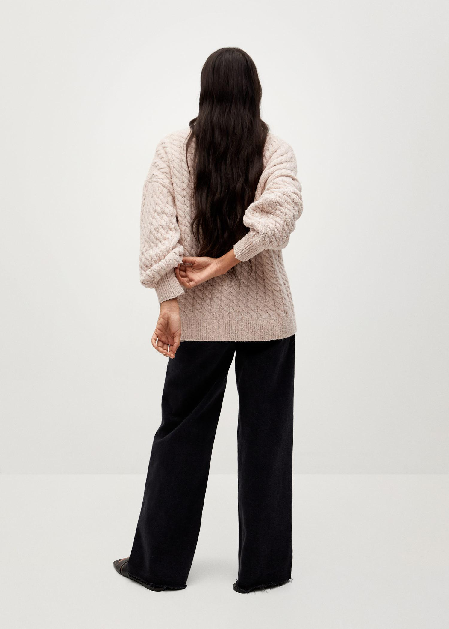 Knitted braided cardigan 2