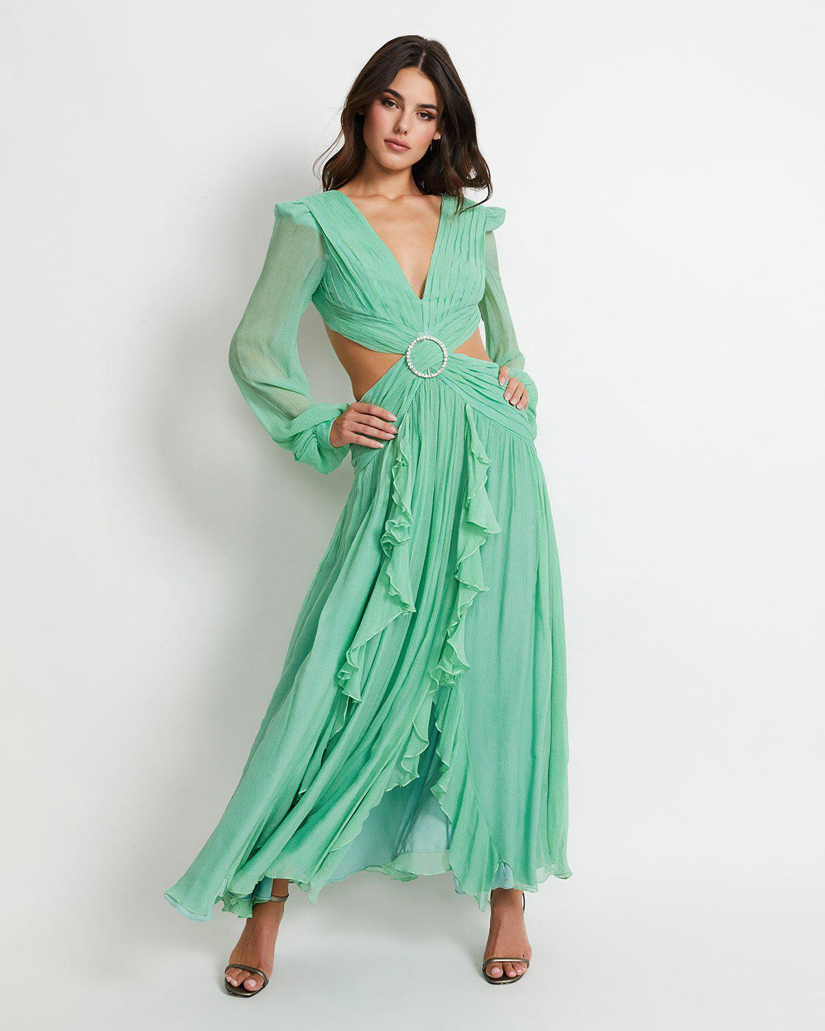LONG SLEEVE CUTOUT GOWN (ONLINE EXCLUSIVE)