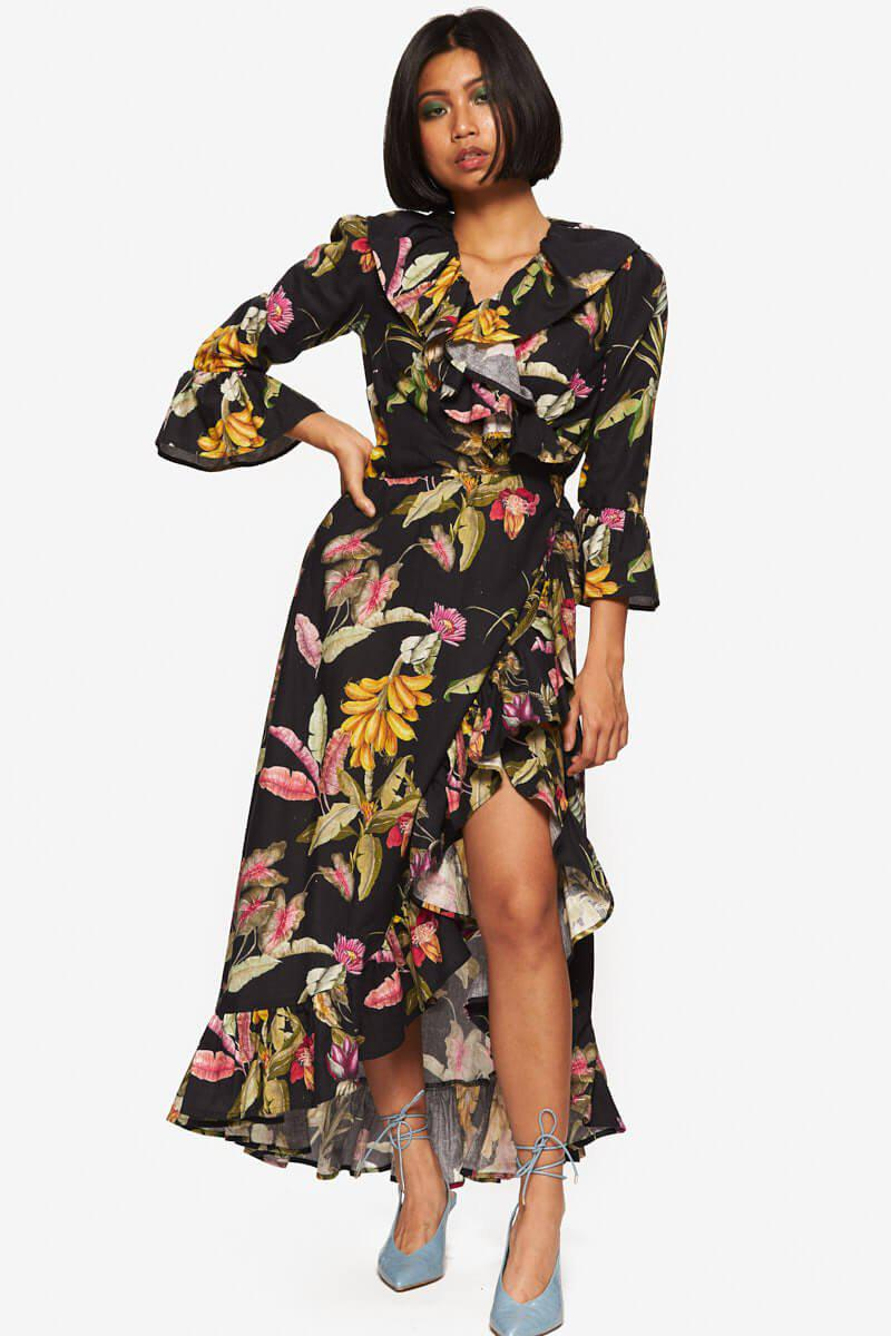 """""""Bethany"""" Dress Floral Linen"""