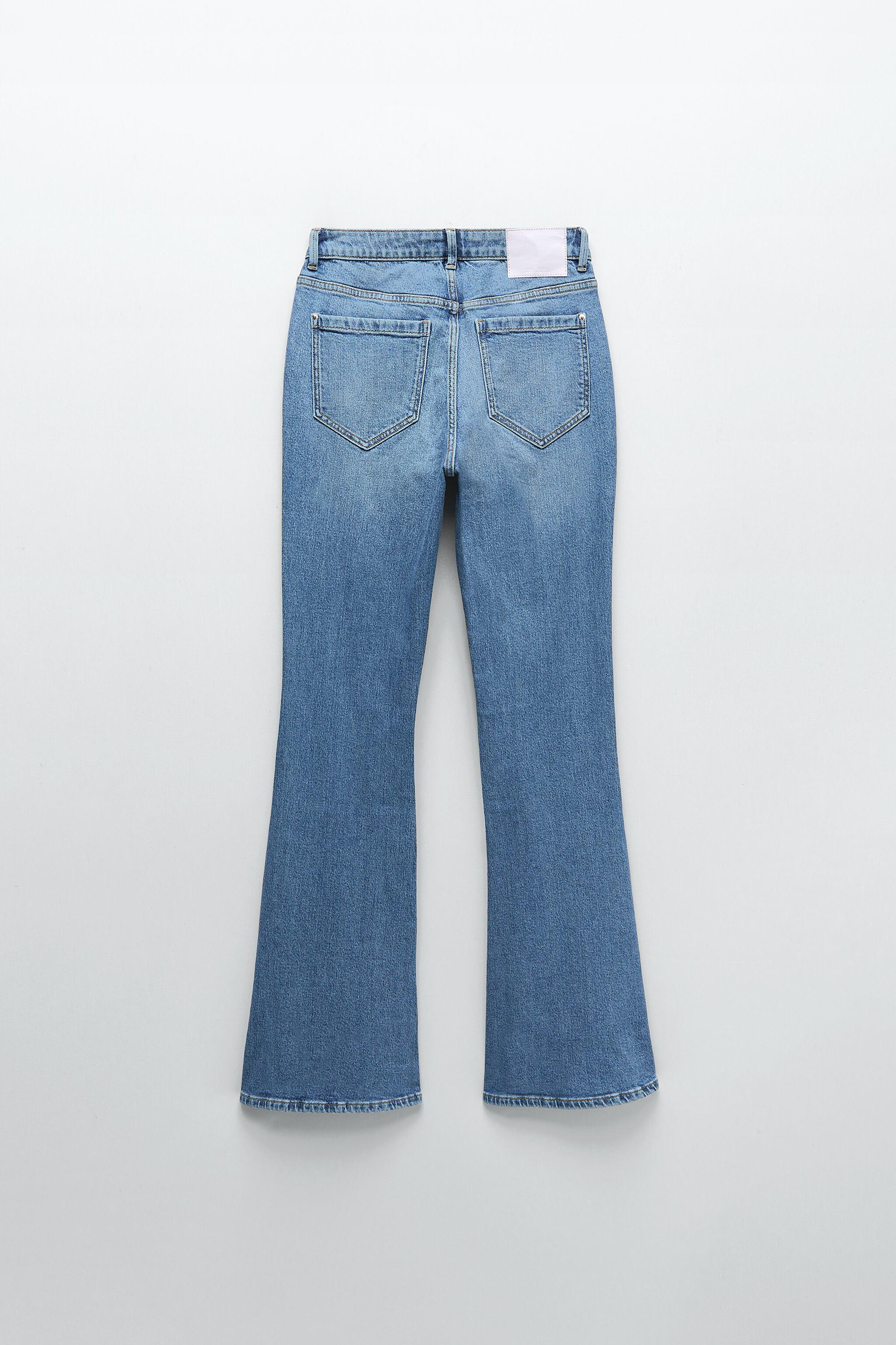 Z1975 HIGH RISE BUTTON FLY FLARED JEANS 4
