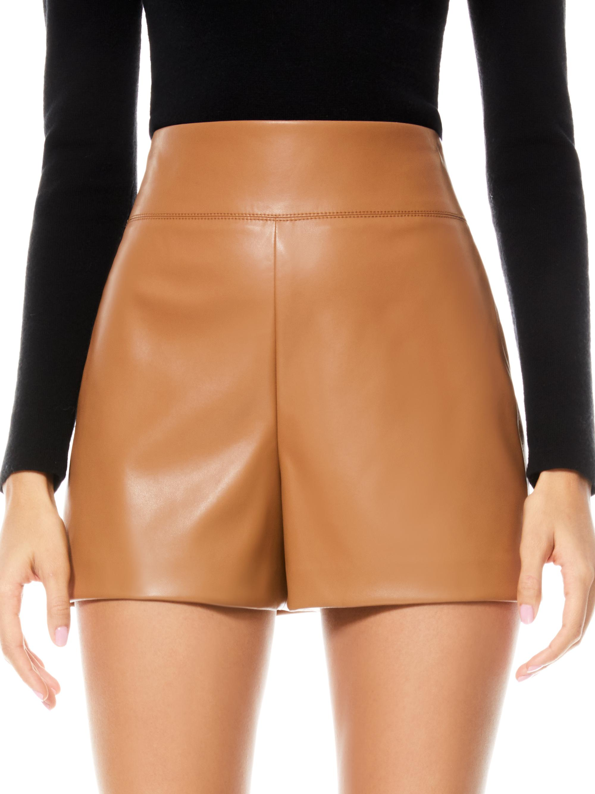 DONALD VEGAN LEATHER SHORT