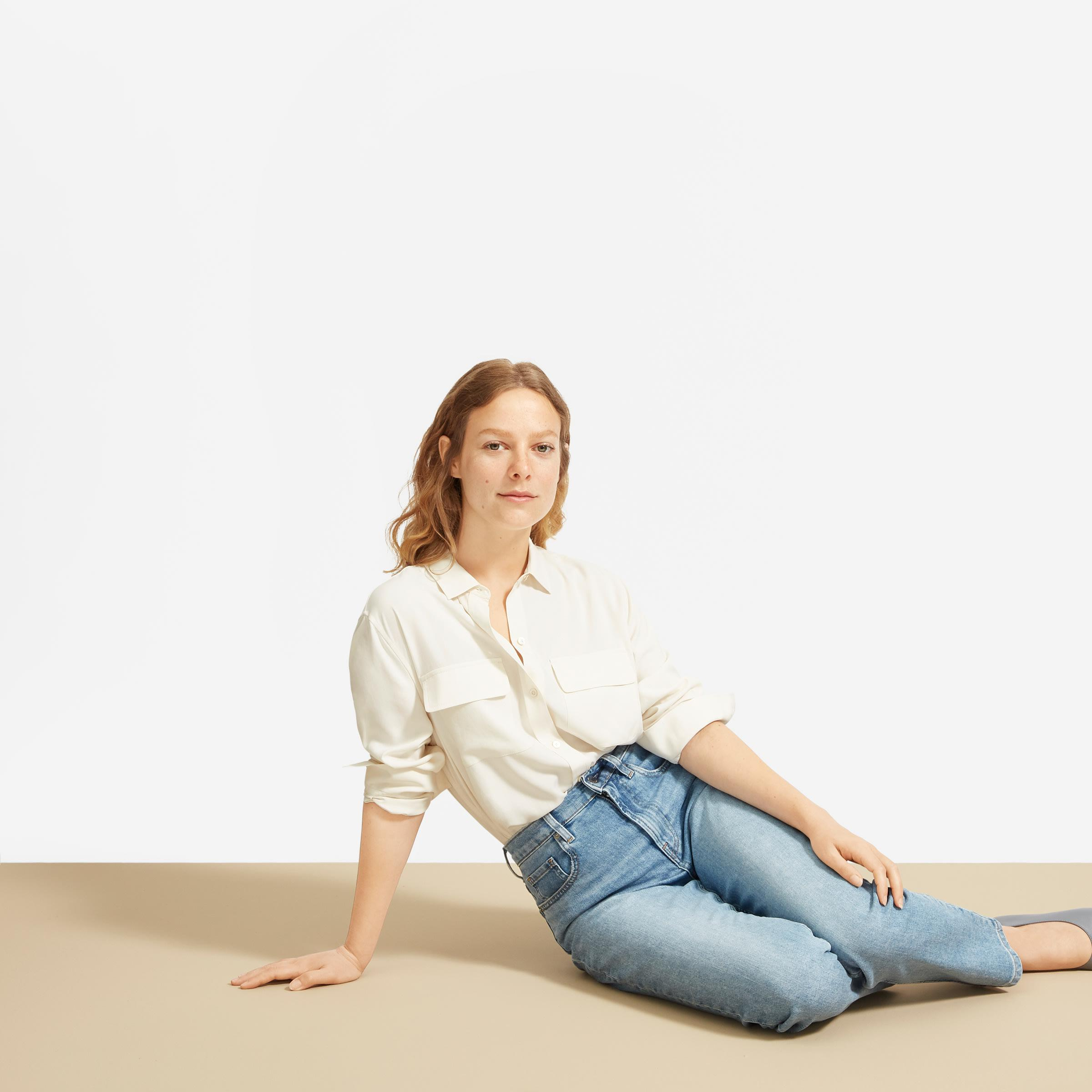 The Washable Silk Relaxed Shirt  2