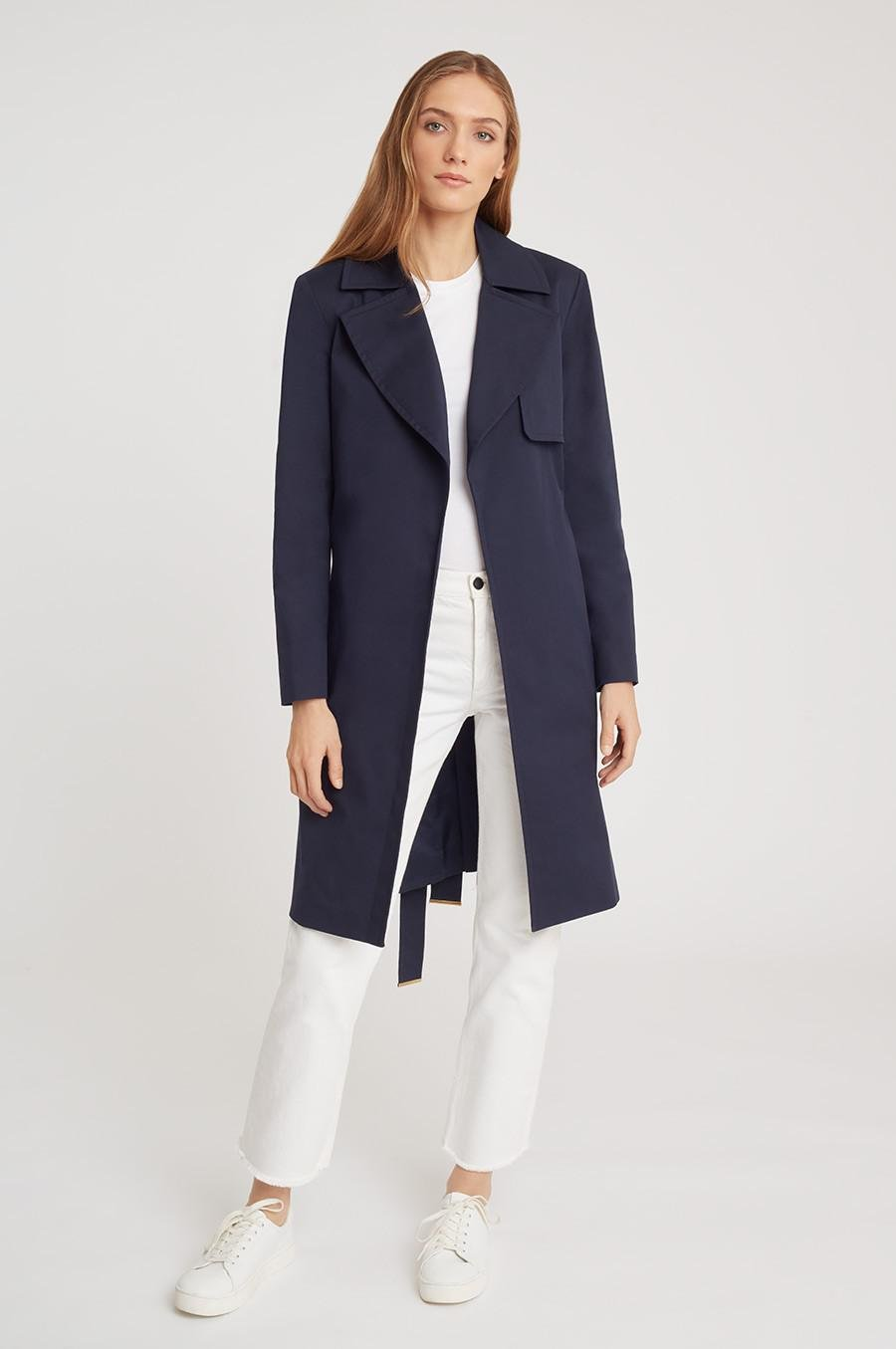 Women's Classic Trench in Navy | Size: 3