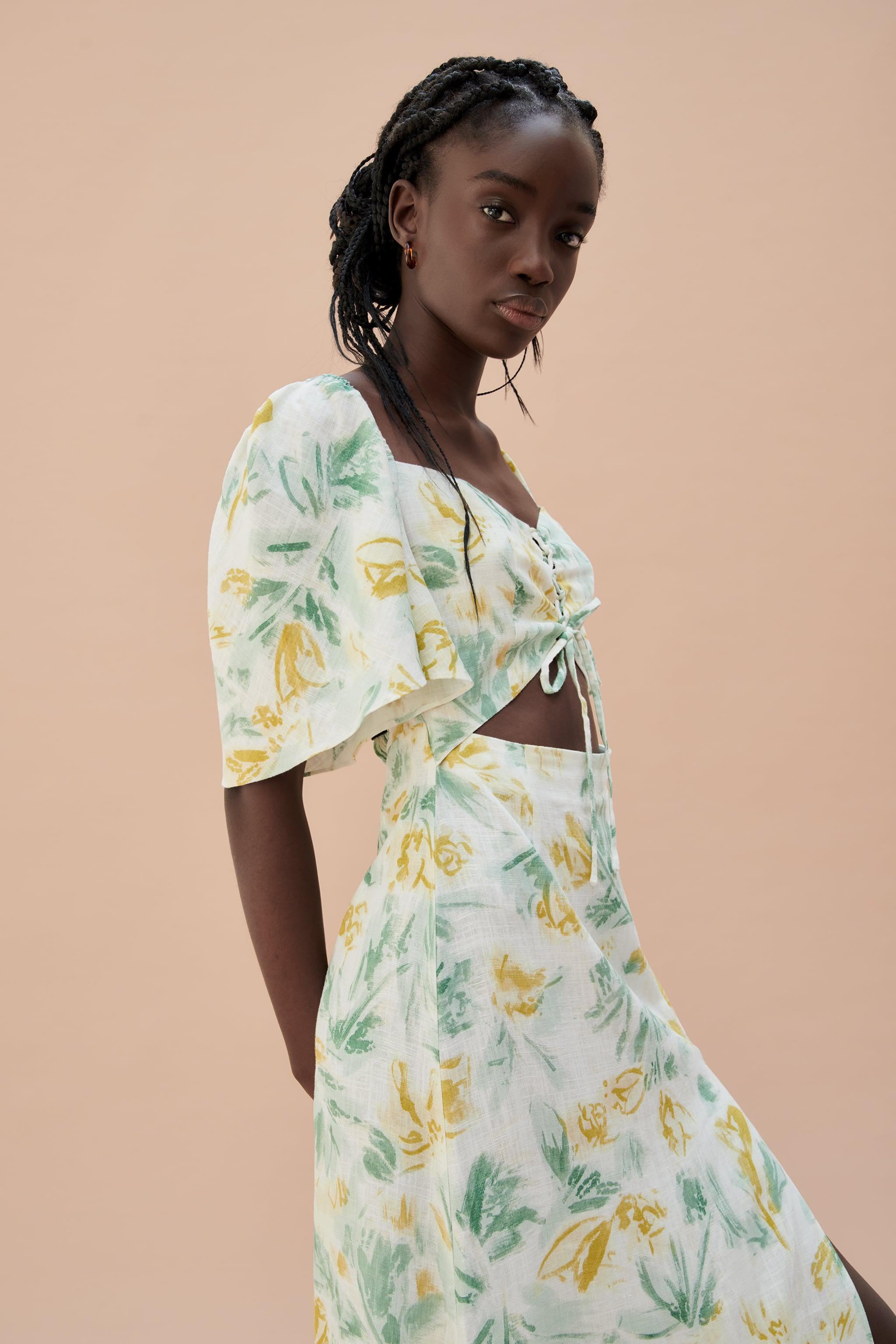 CUT OUT PRINTED DRESS 2
