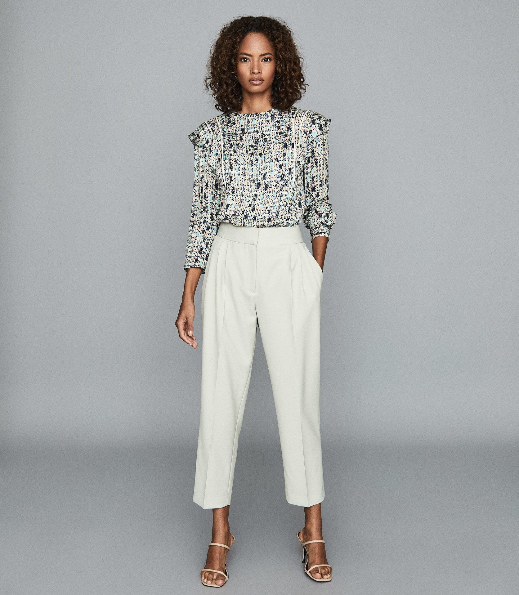 MIMI - PLEAT FRONT TAPERED TROUSERS