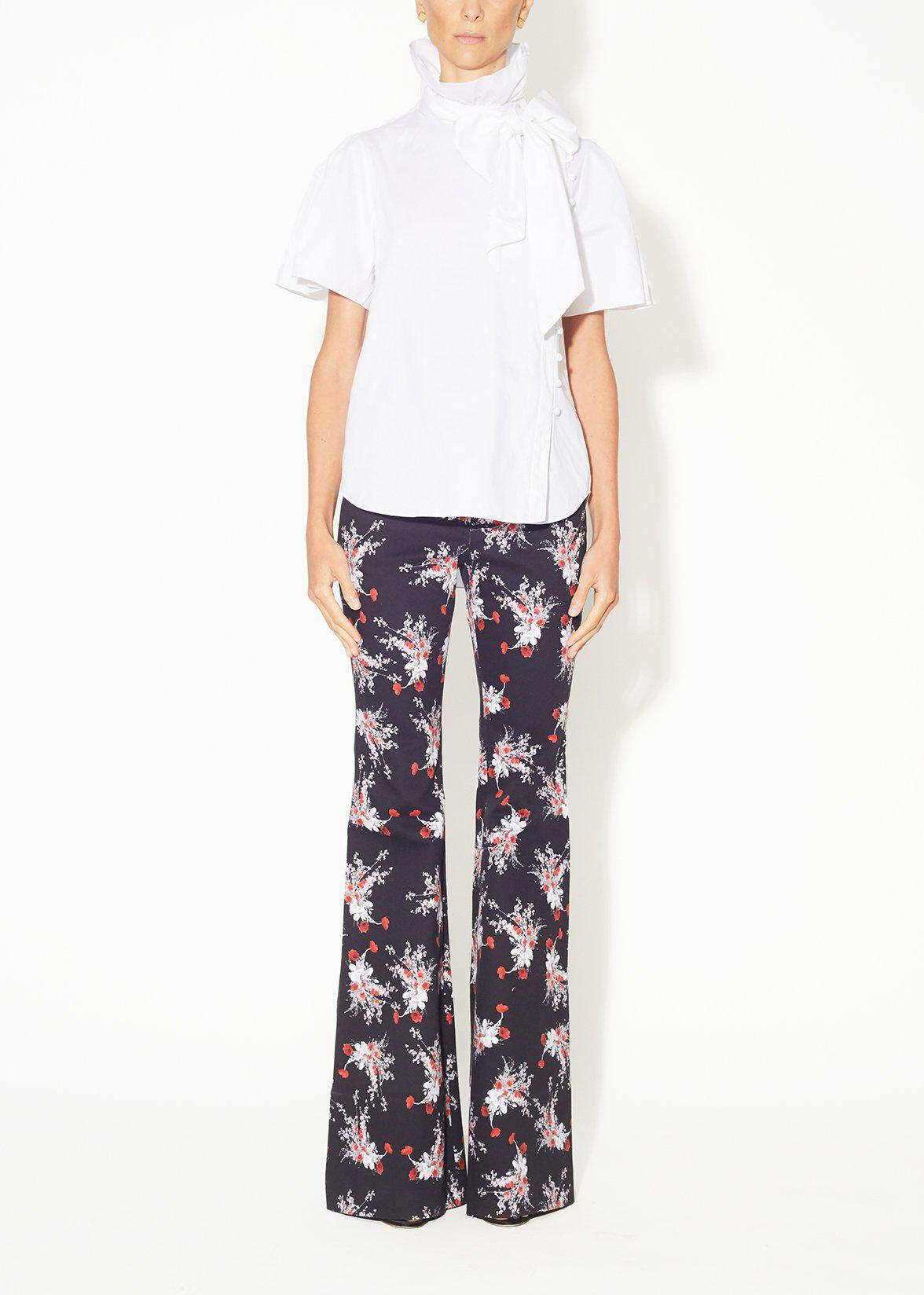 FLARE PANT IN PRINTED COTTON TWILL