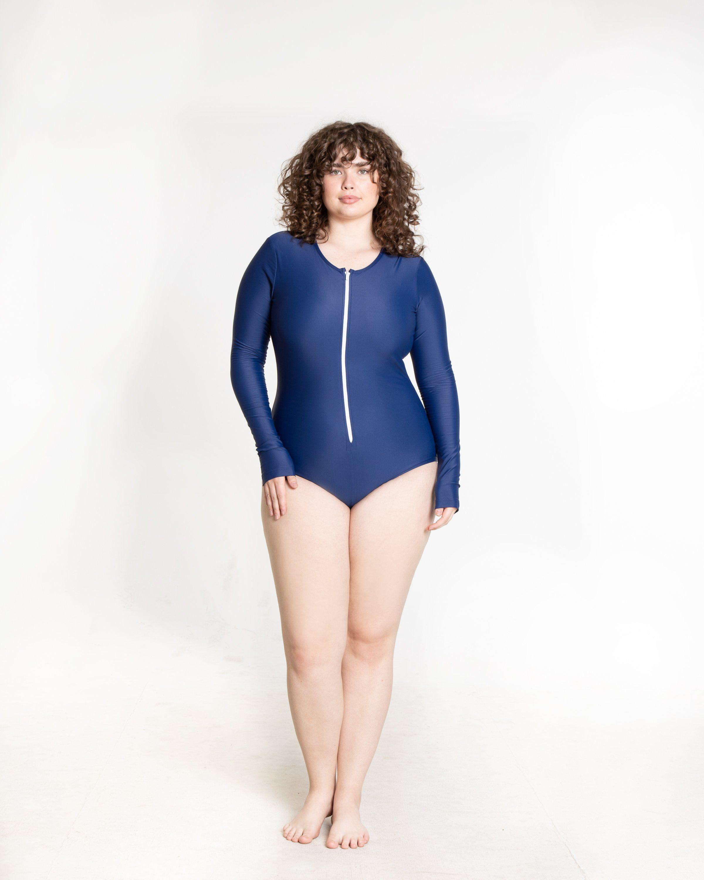 Long-Sleeved Front Zip Swimsuit 4