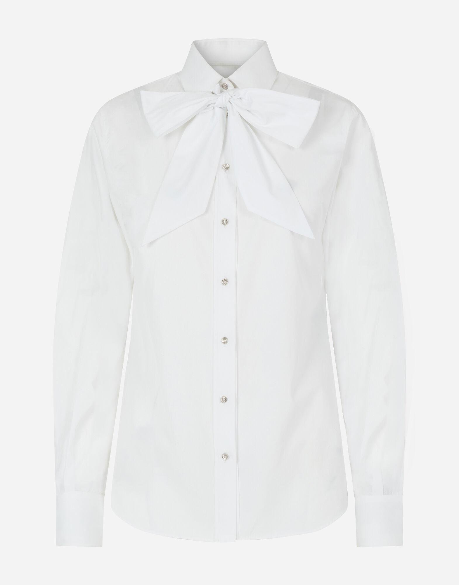 Poplin shirt with pussy bow 3