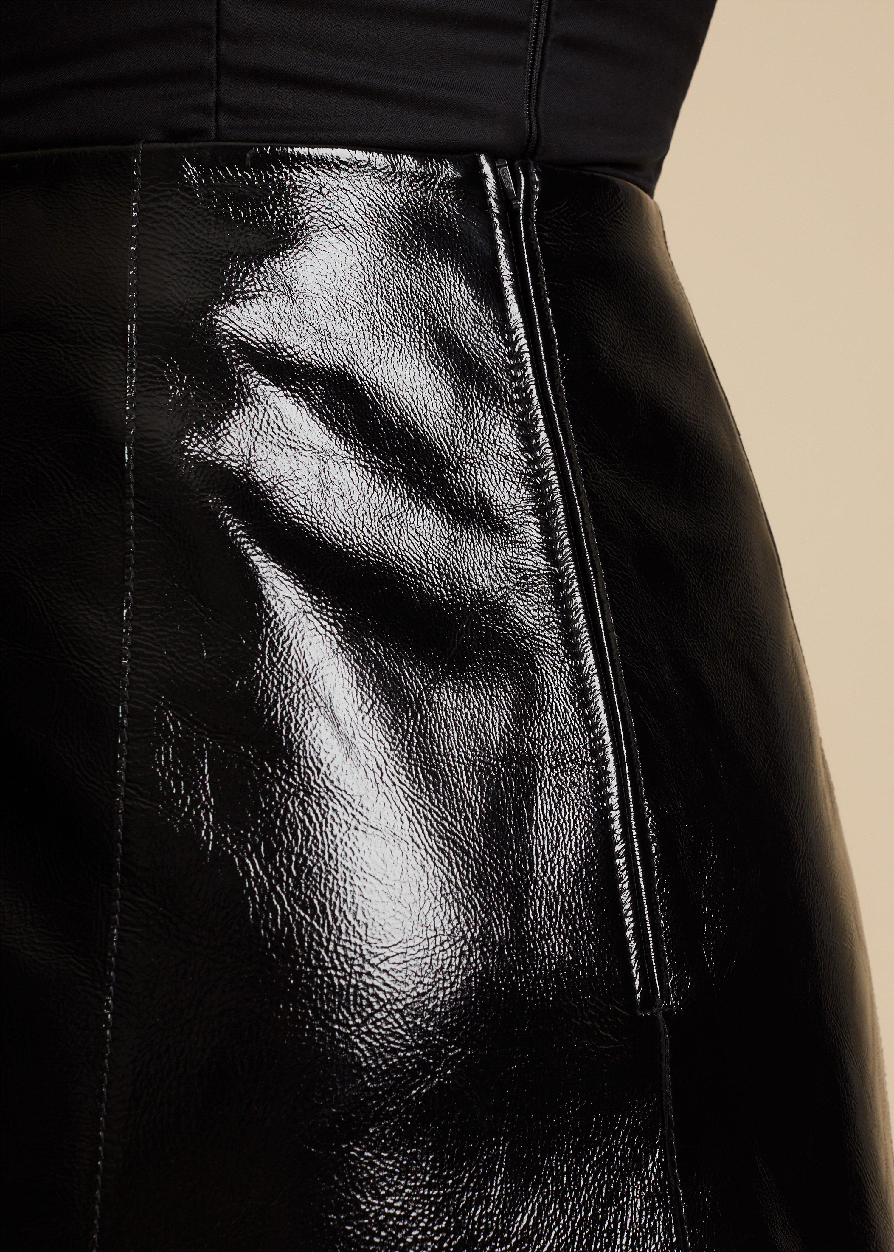 The Sam Skirt in Black Patent Leather 3
