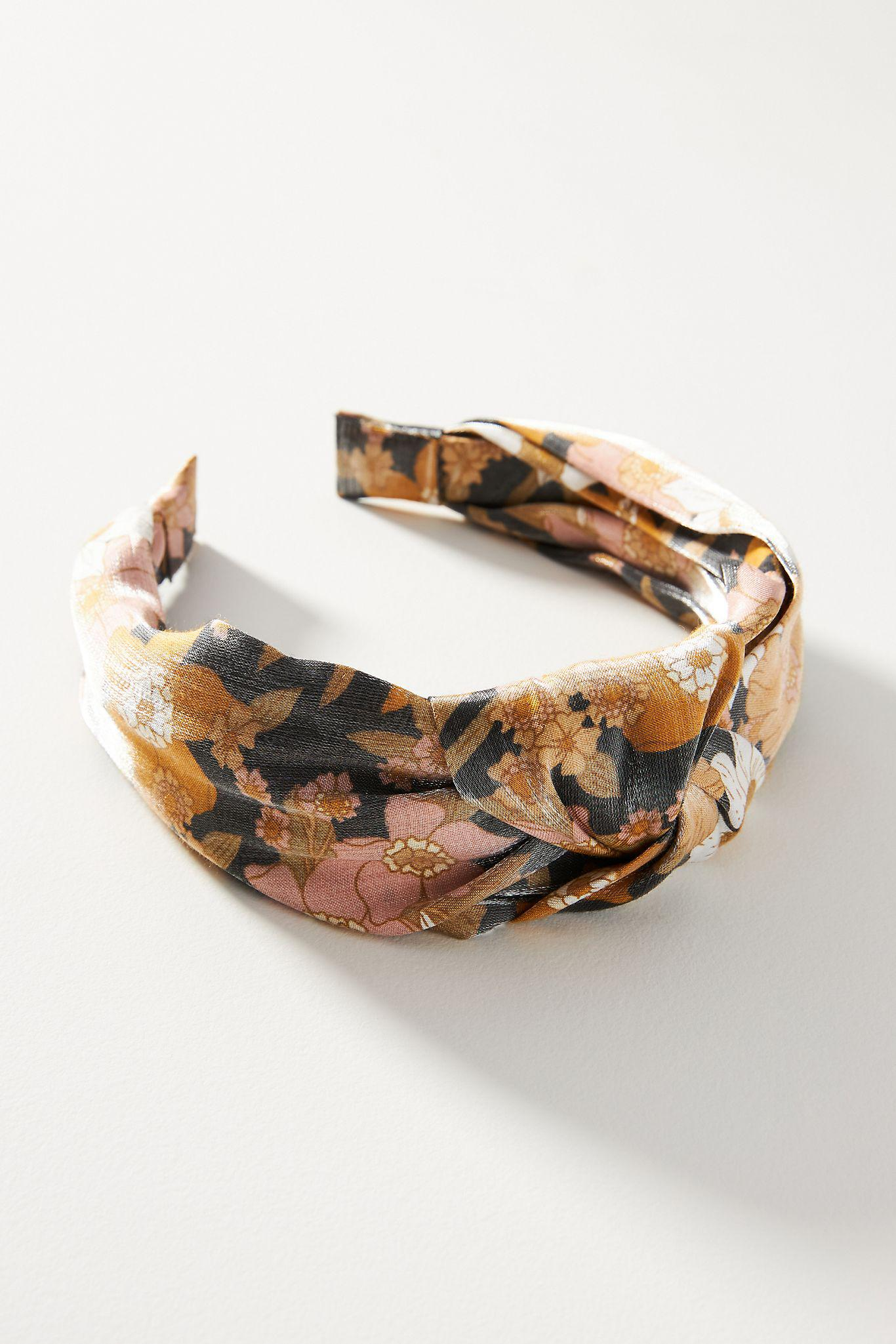 Floral Shine Knotted Headband