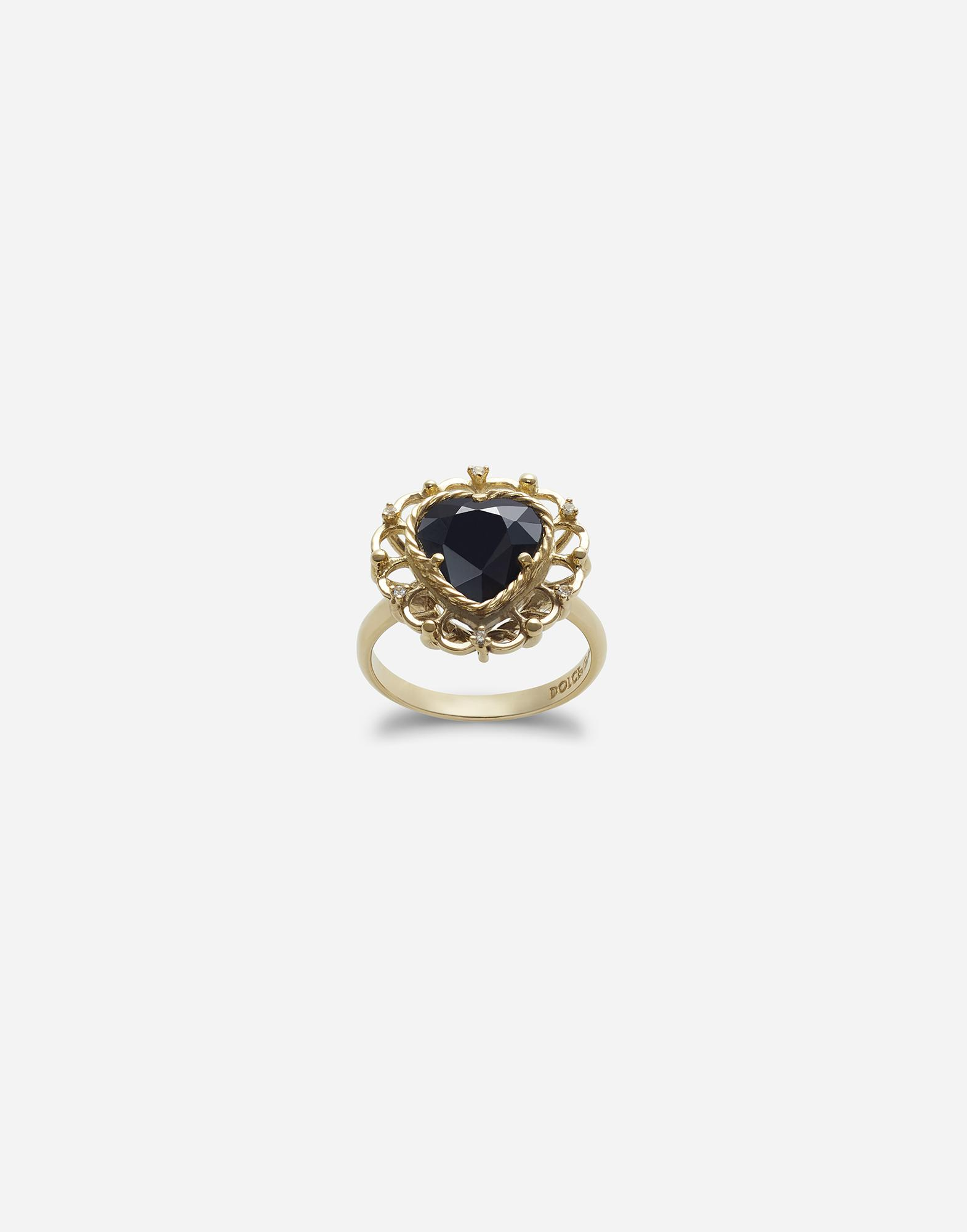 Heart-shaped sapphire ring