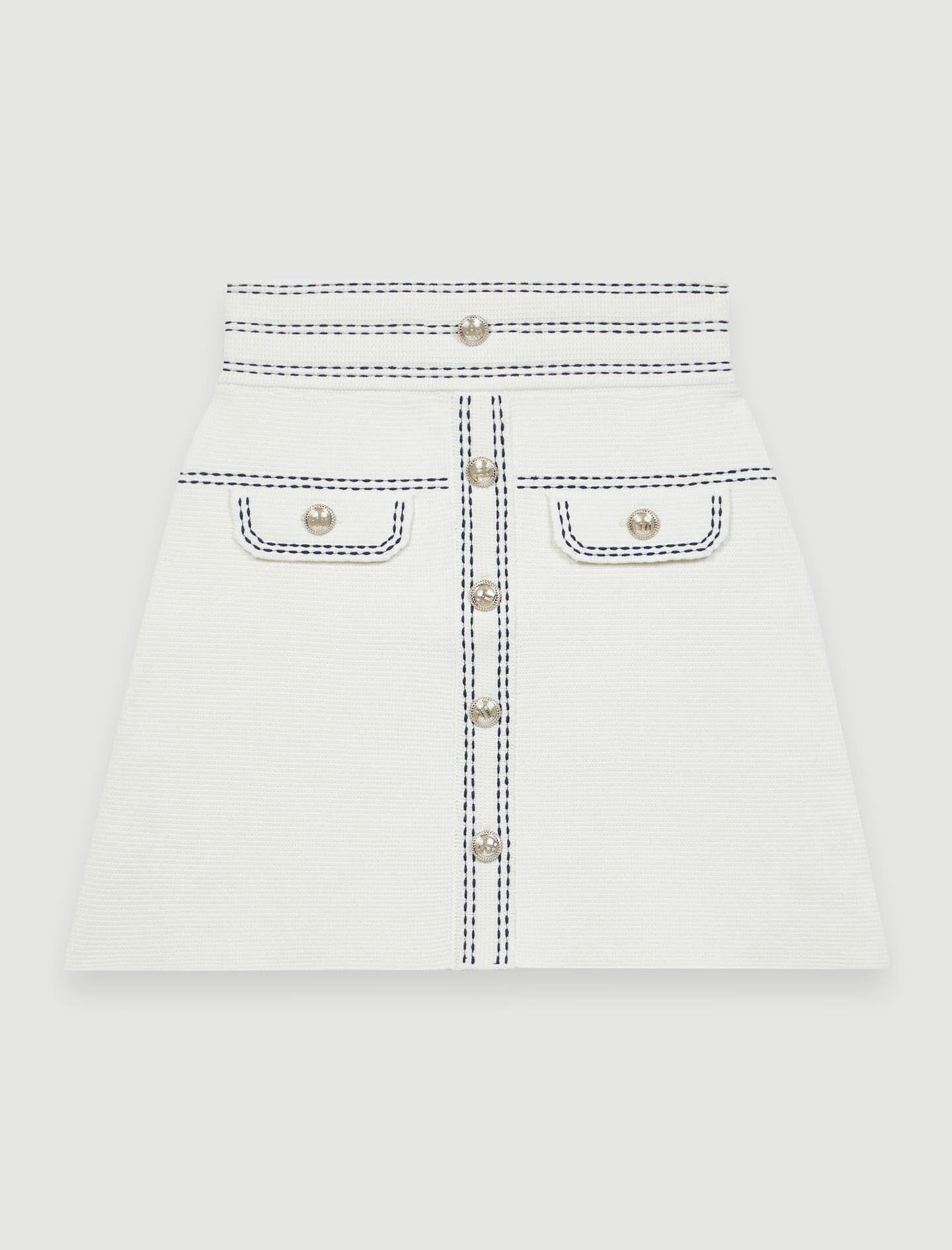 SKIRT WITH CONTRASTING TOPSTITCHING 3