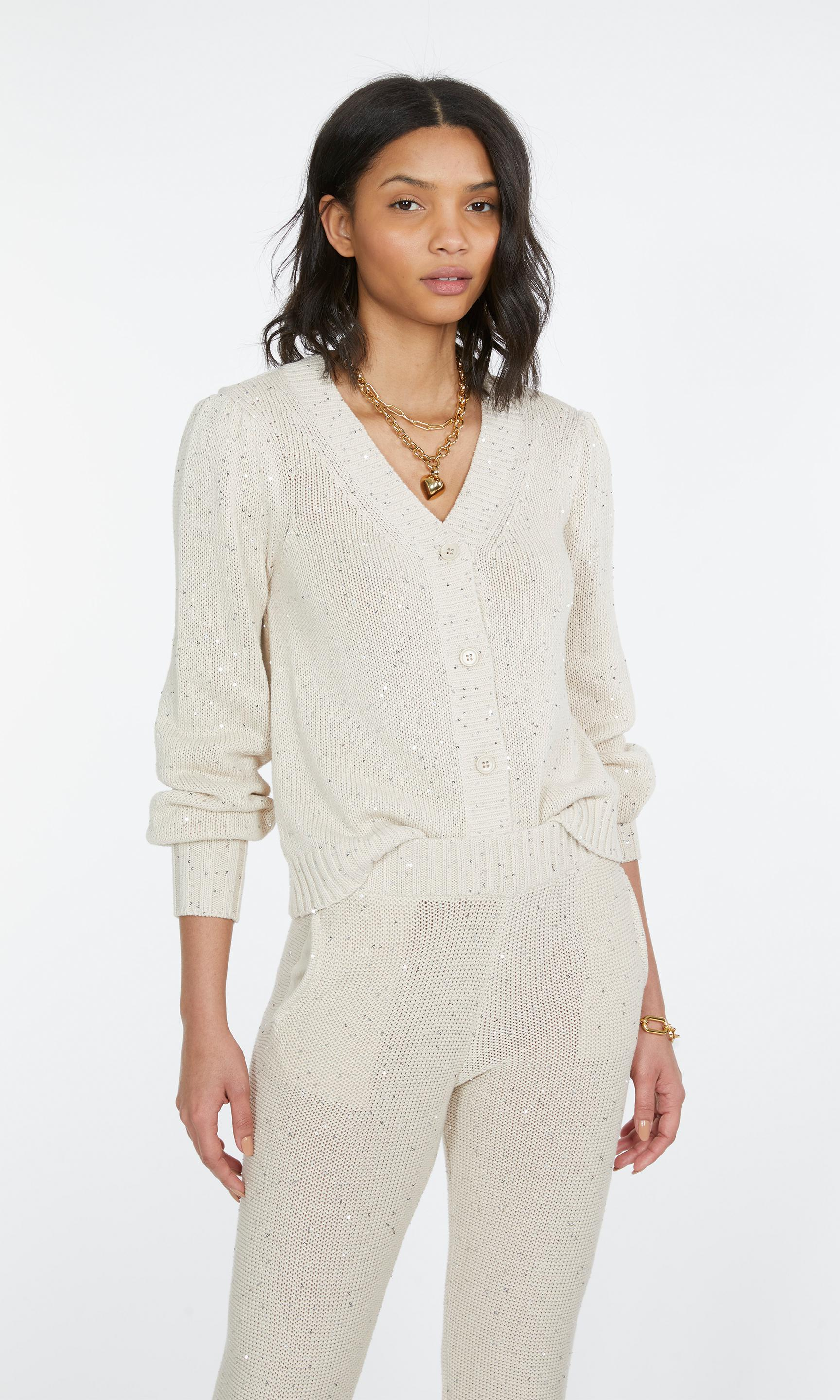 Lowell Sequin Knitted Cardigan 2