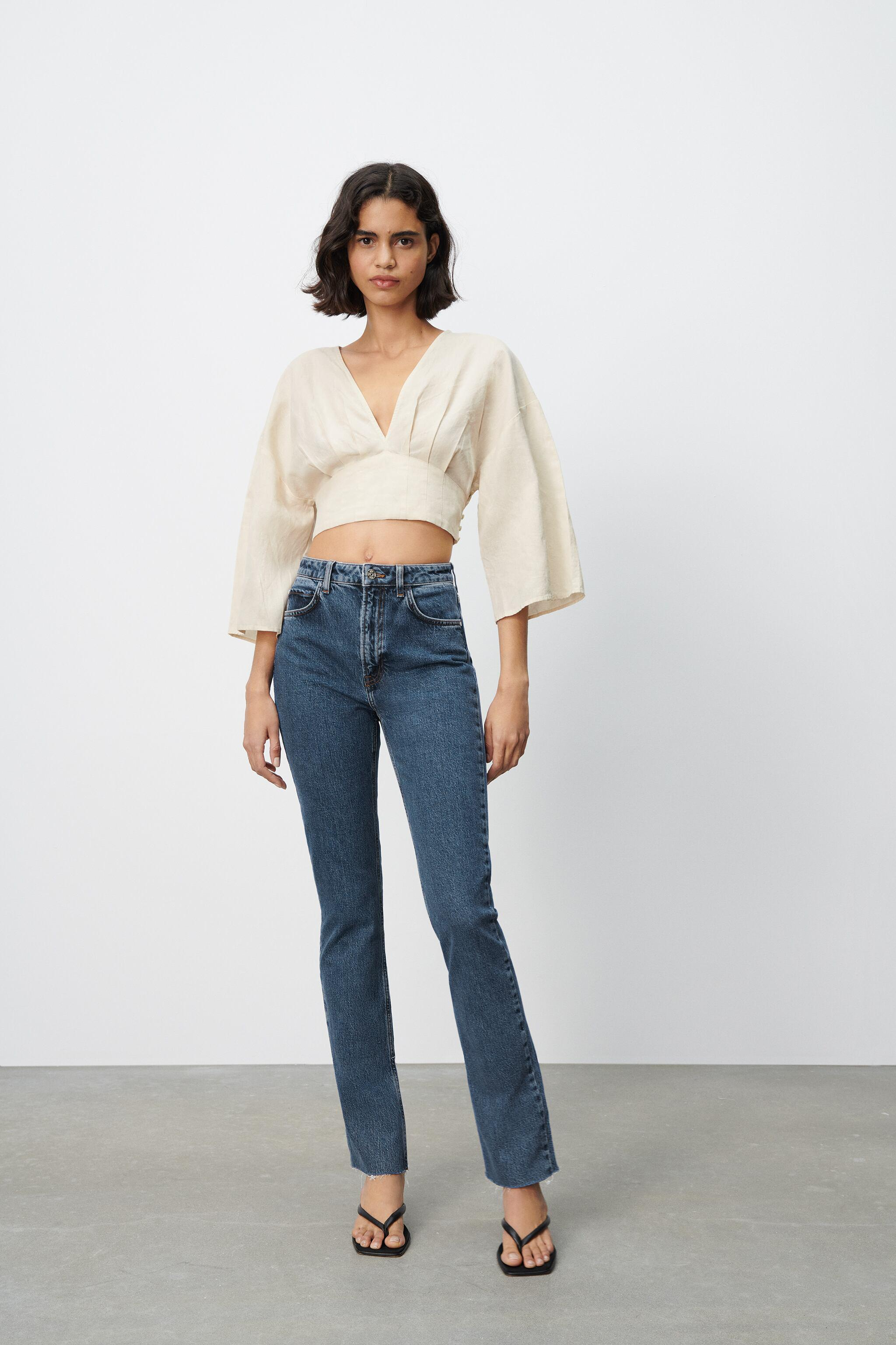 SLIM FLARED SLITTED HIGH RISE Z1975 JEANS