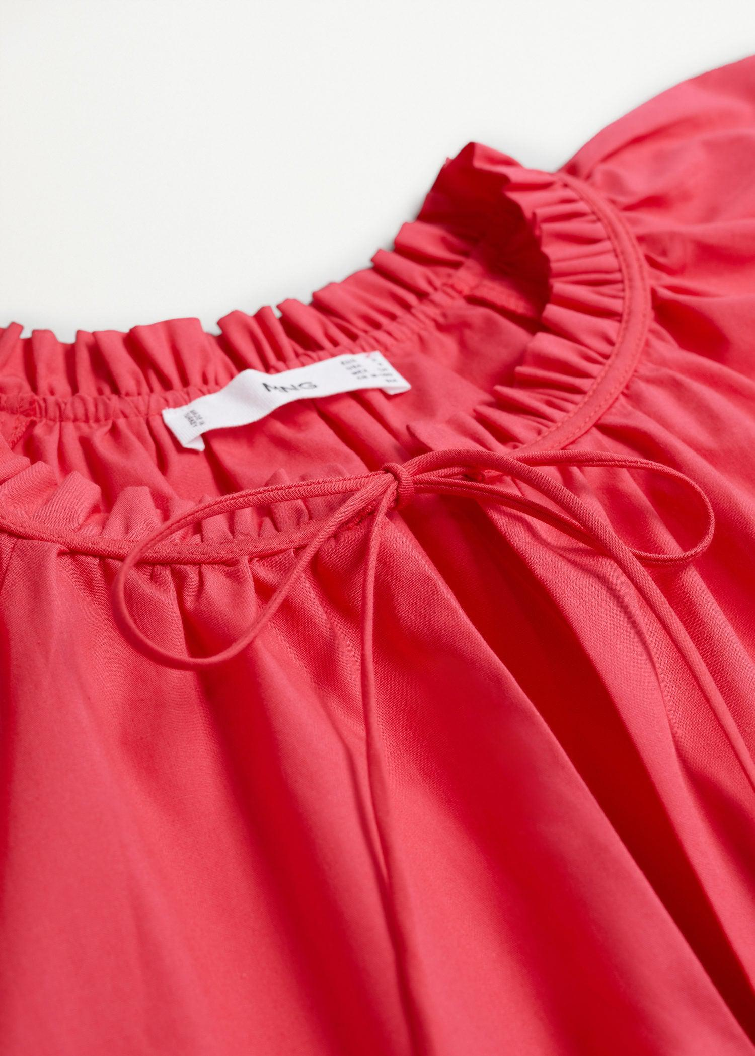 Ruched neck blouse 6