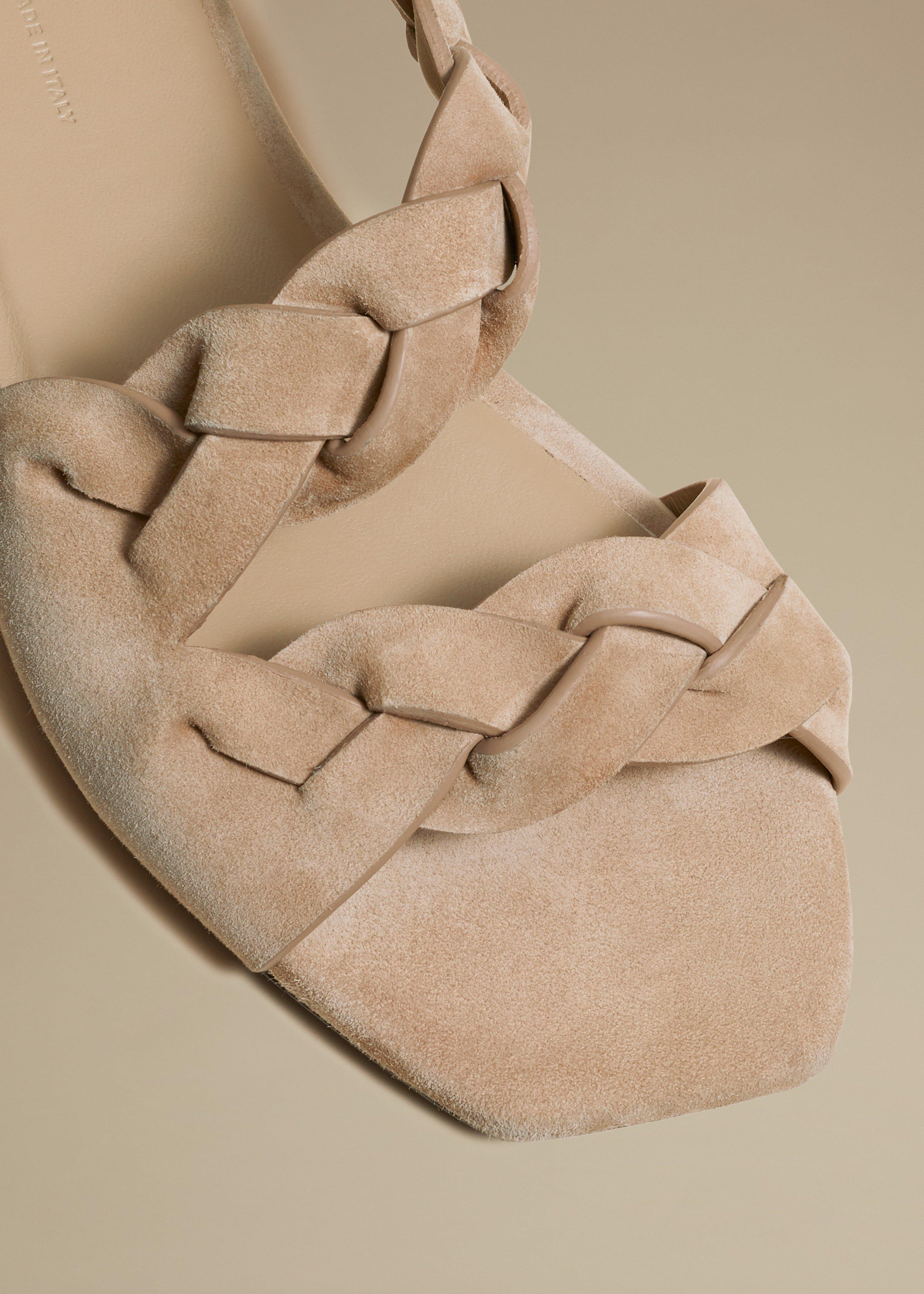 The Torrance Sandal in Biscuit Suede 2