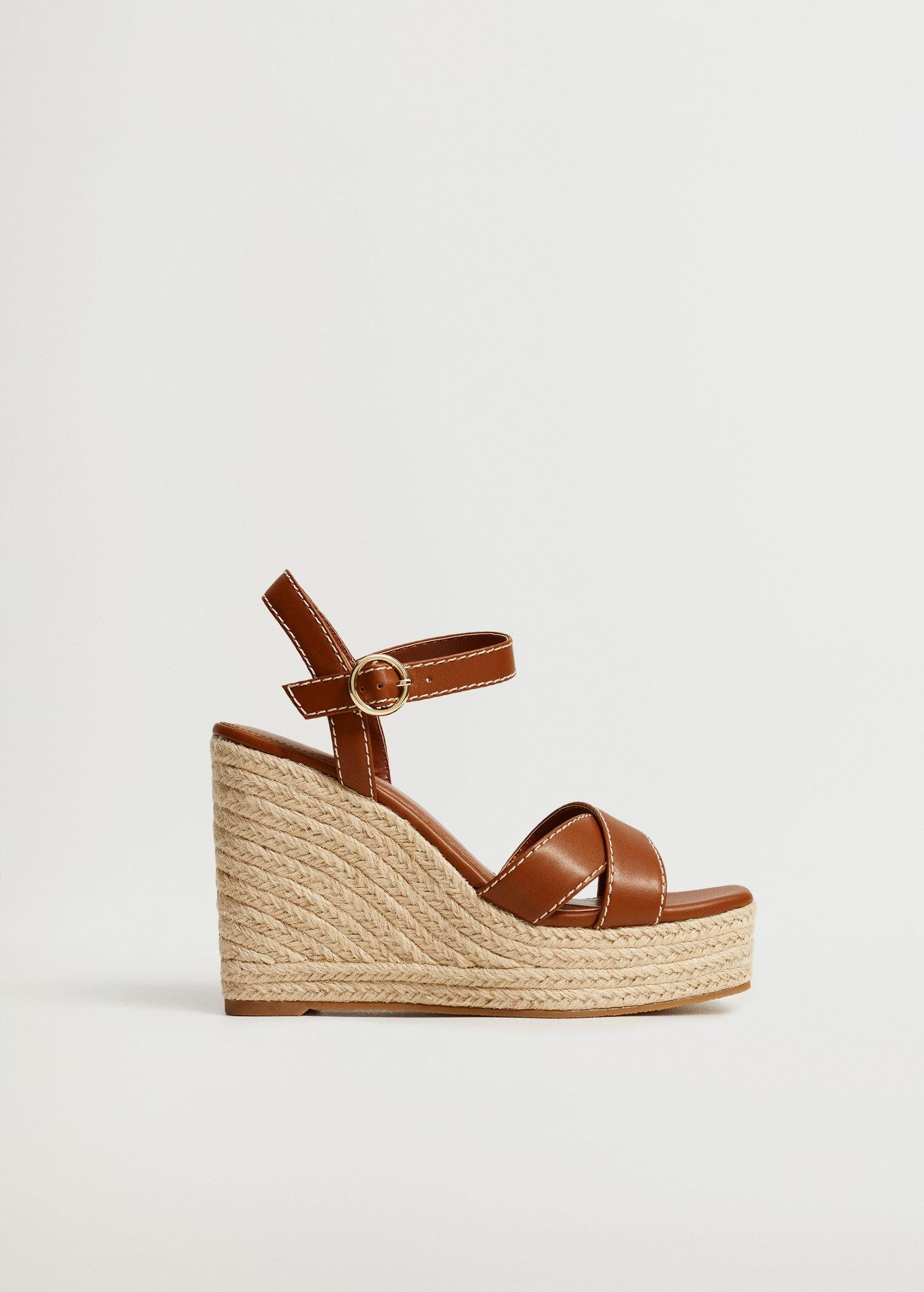 Wedge strips sandals