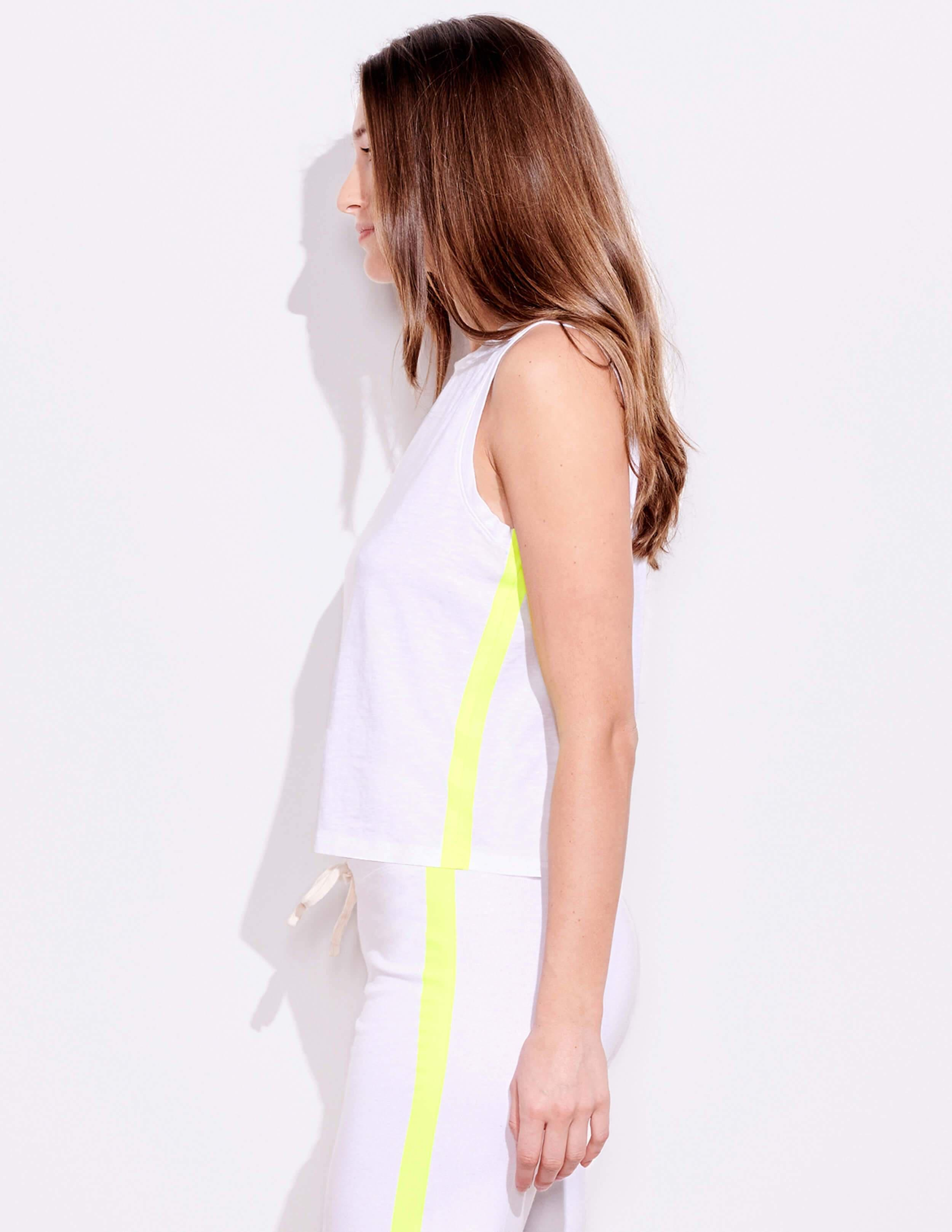 Yellow Lined Muscle Tank
