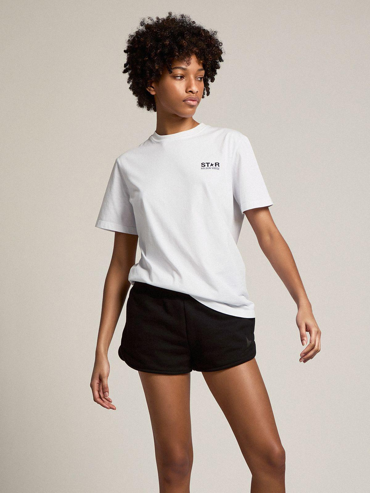 White Star Collection T-shirt with contrasting black logo and star 2