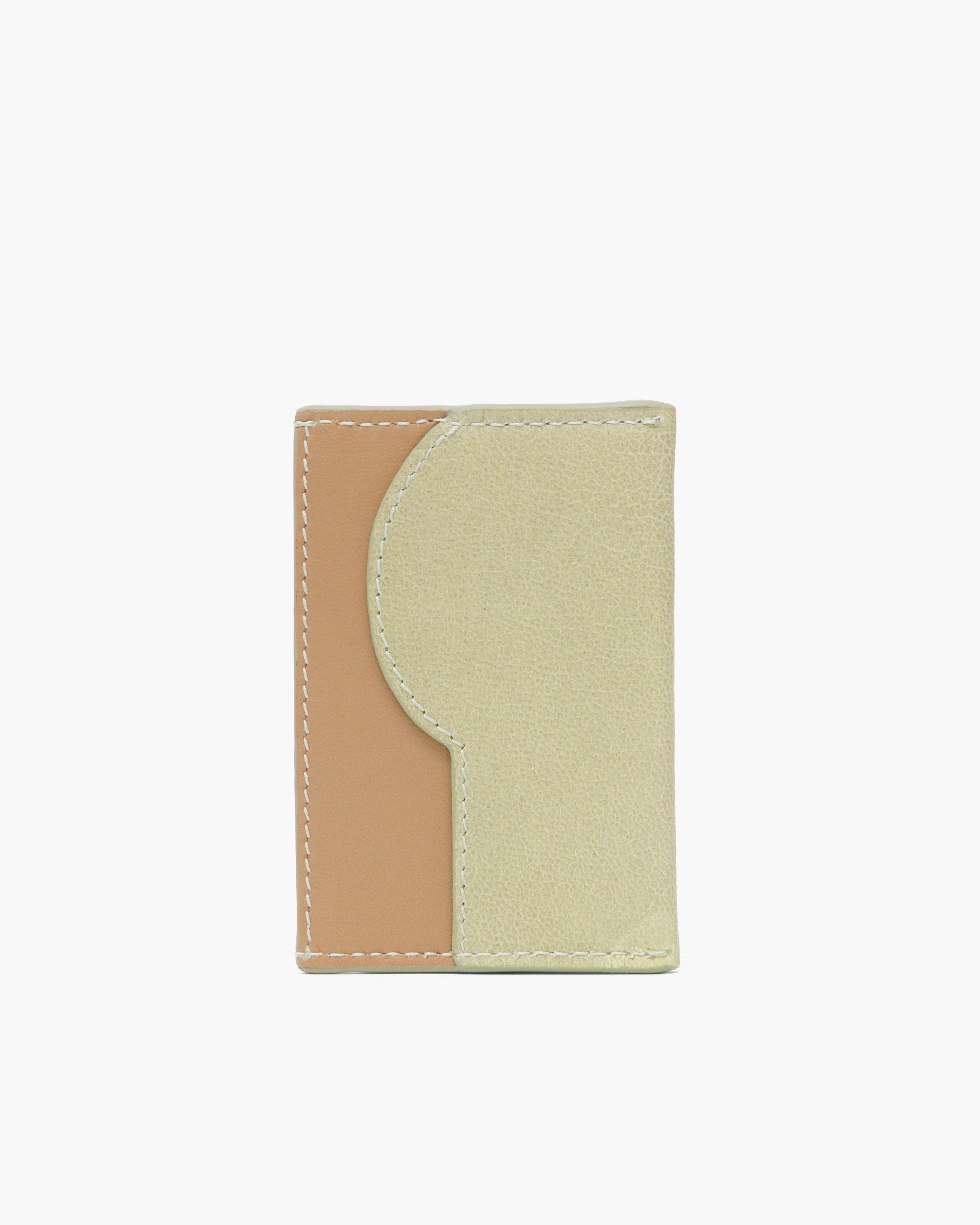RP Card Holder Leather Citrus Green + Nappa Almond 1