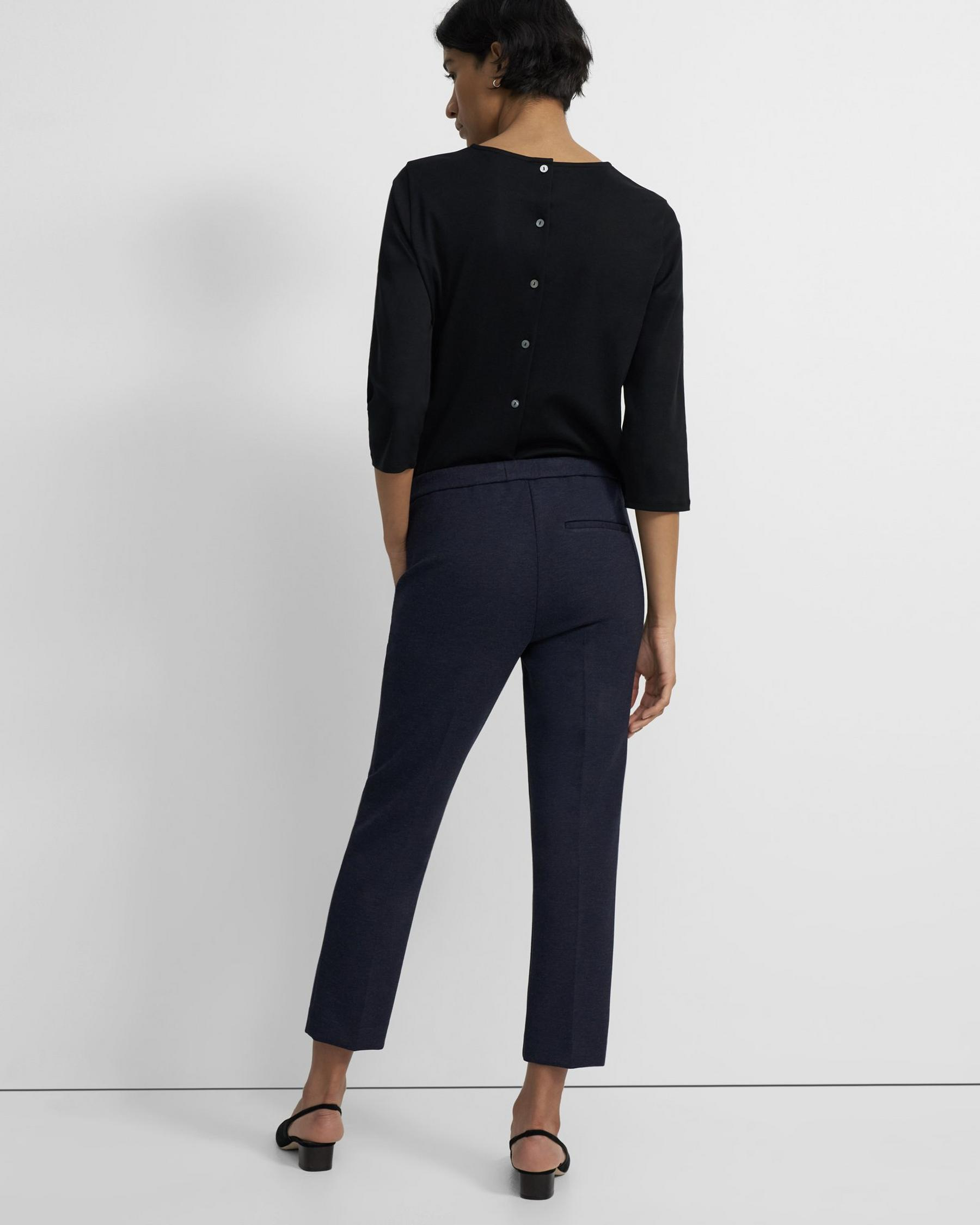 Treeca Pull-On Pant in Double-Knit Jersey 2