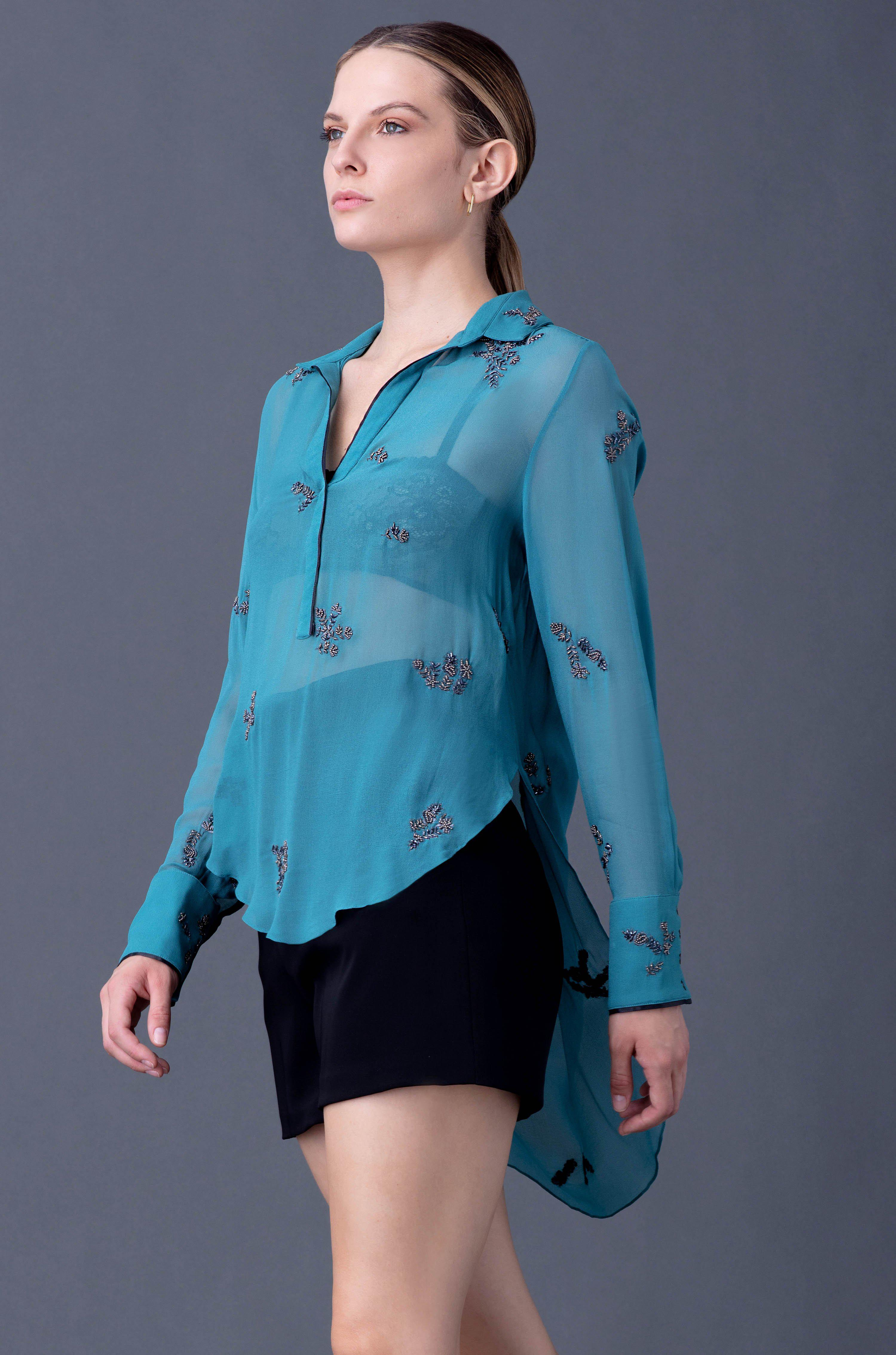 VALERIE EMBROIDERED BLOUSE