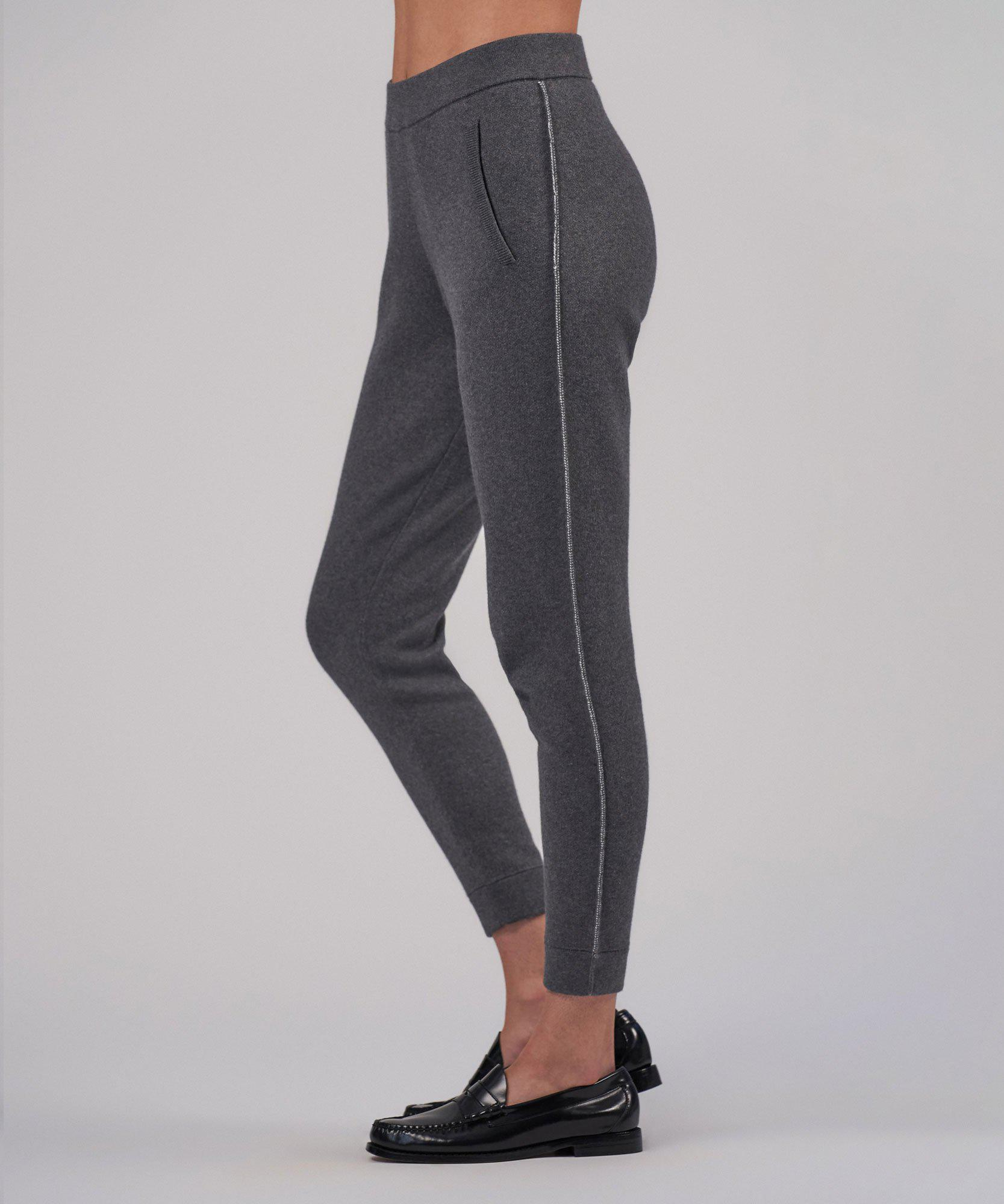 Cotton Cashmere Sweater Pant - Heather Charcoal 1