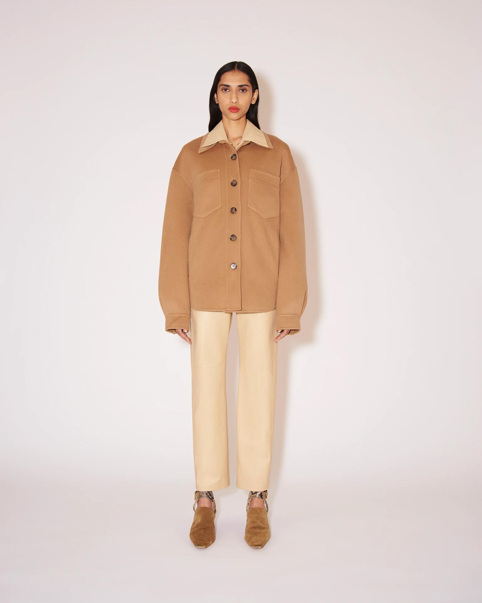 PERTH - Double wool jacket - Camel