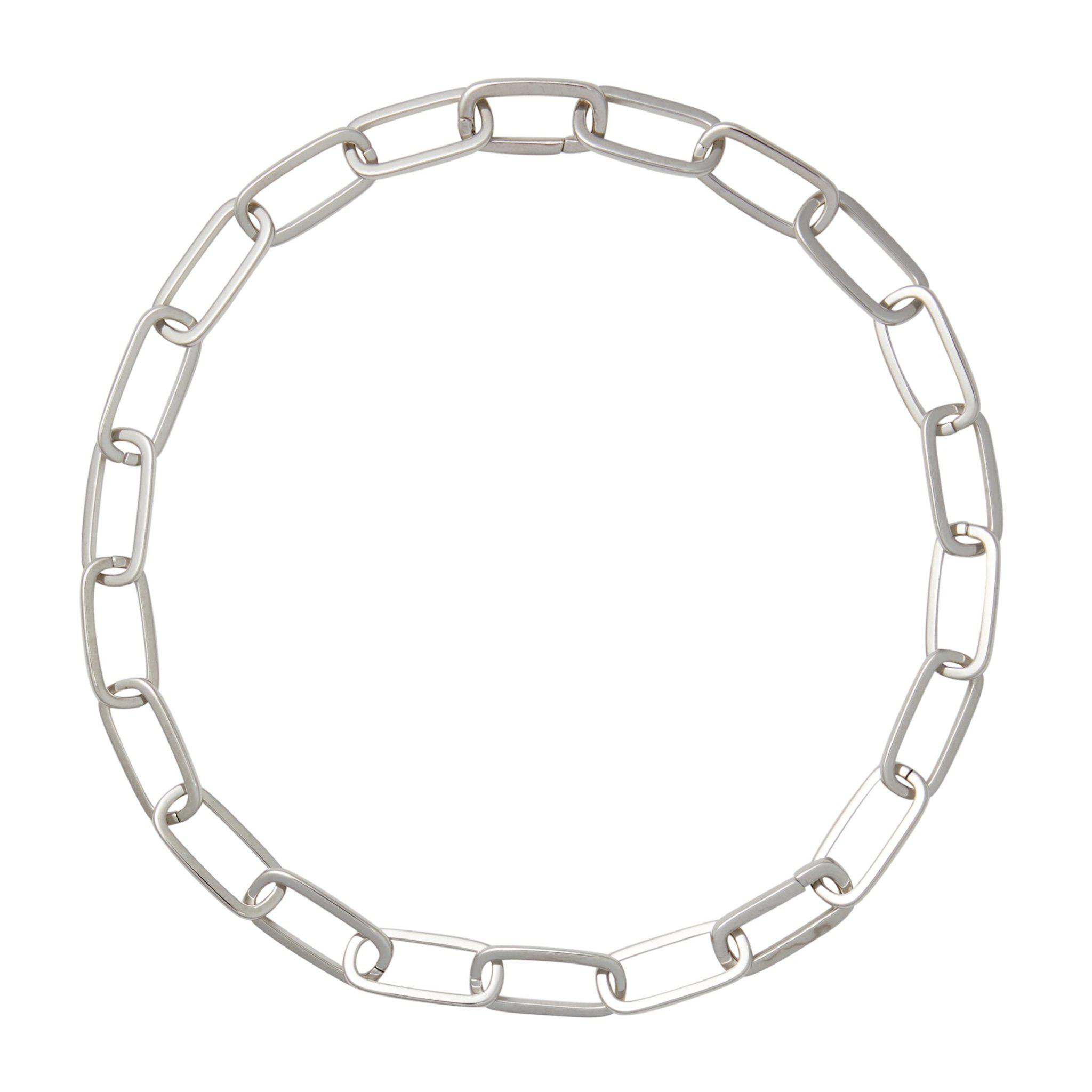 Grande Solid Sterling Paperclip Chain Necklace in Sterling Silver