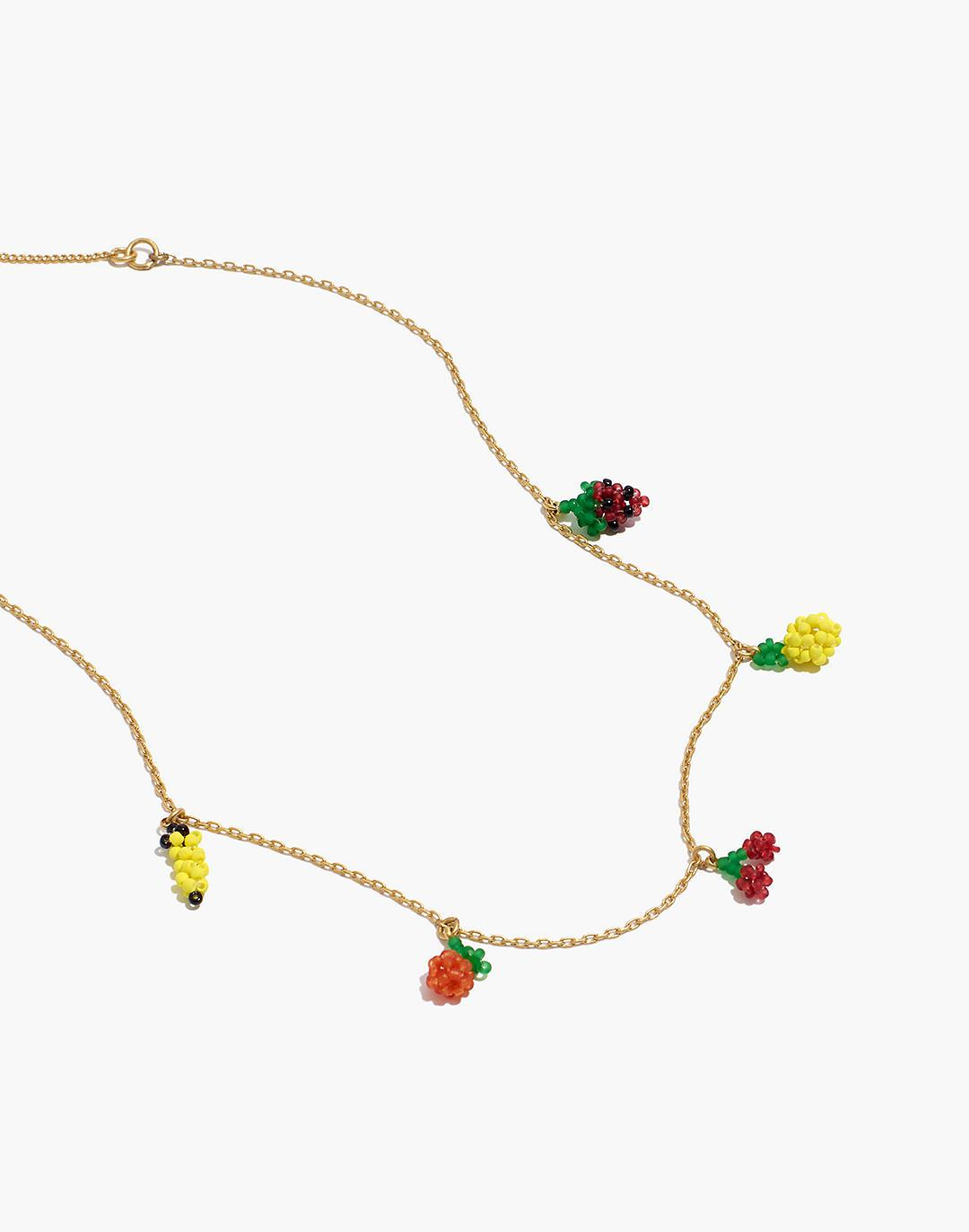Beaded Fruit Chain Necklace