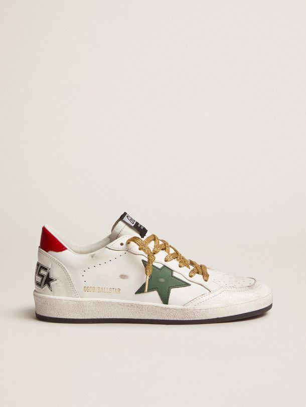 Ball Star sneakers with green star and red heel tab