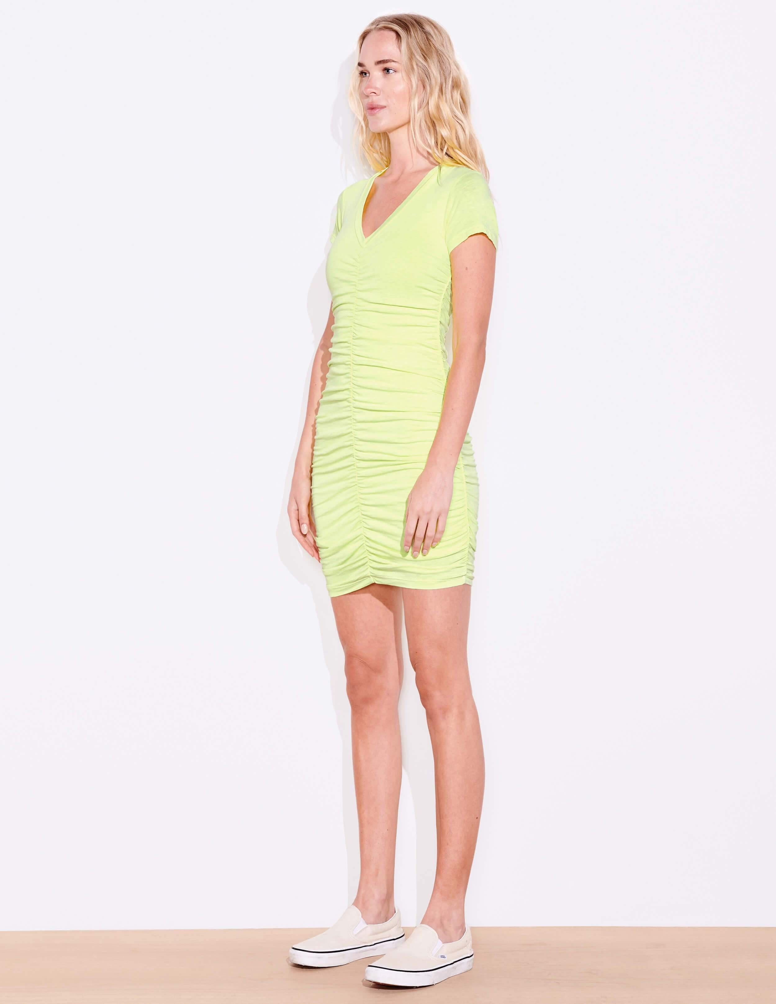 Short Sleeve Ruched Dress 2
