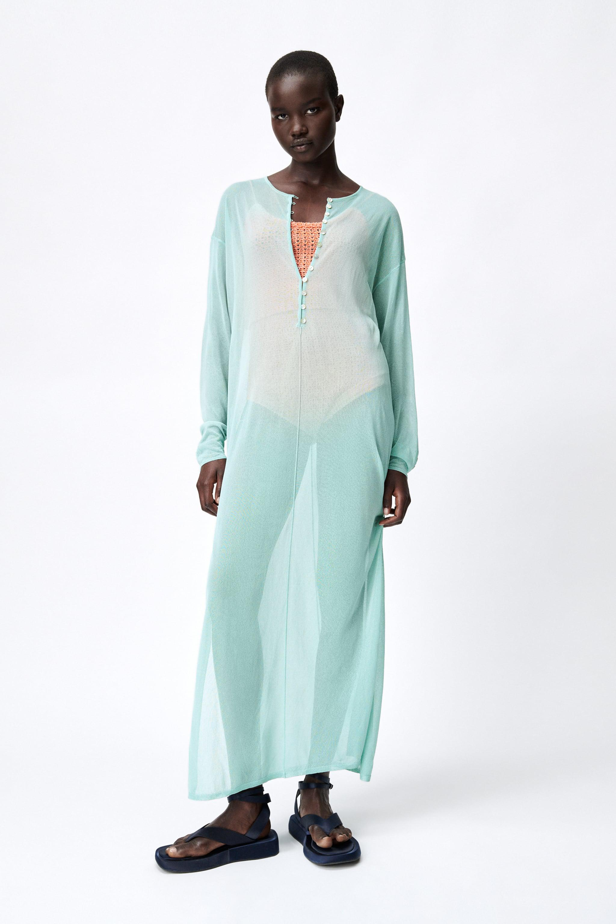 SEMI-SHEER KNIT TUNIC LIMITED EDITION