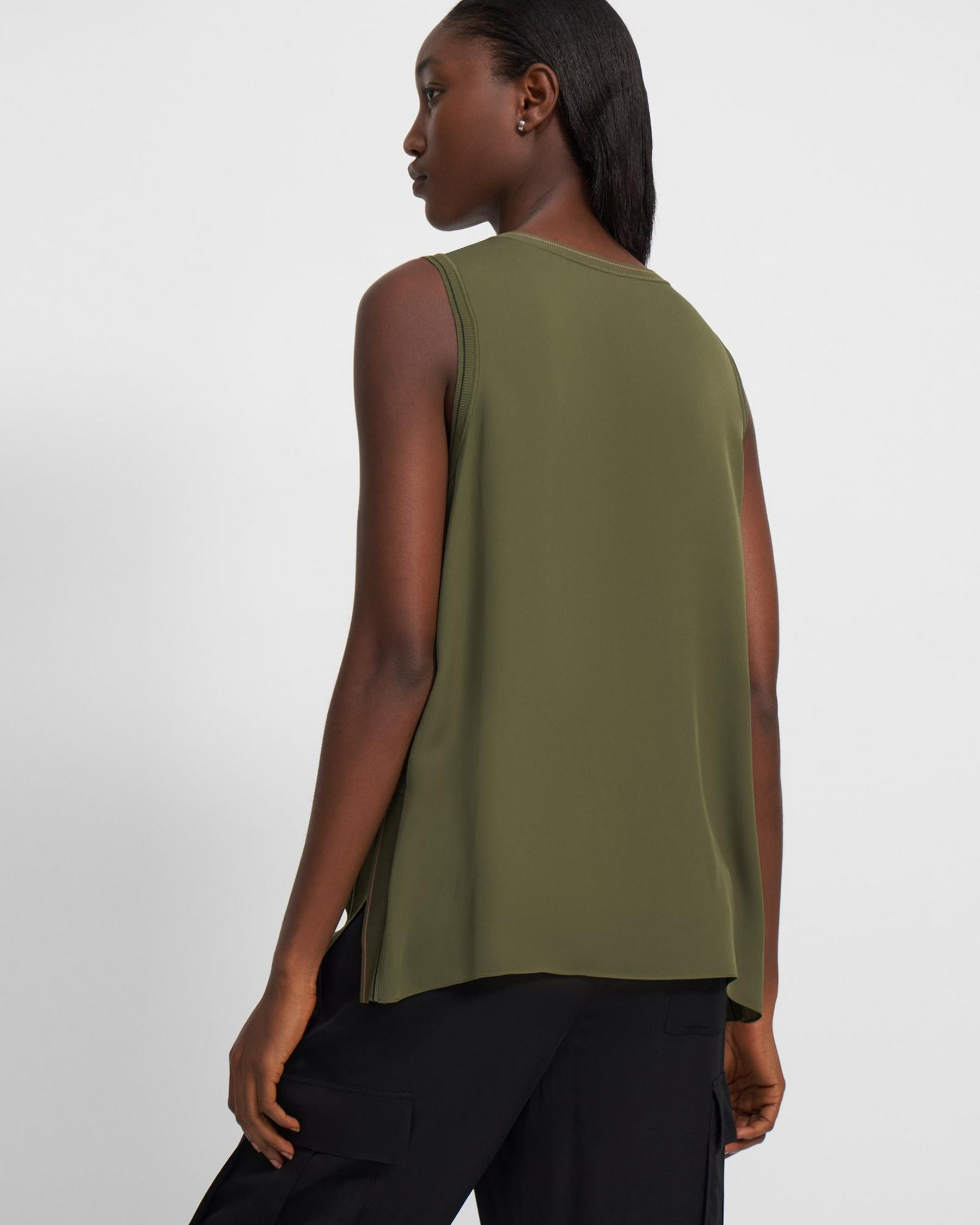 Combo Shell Top in Silk 2