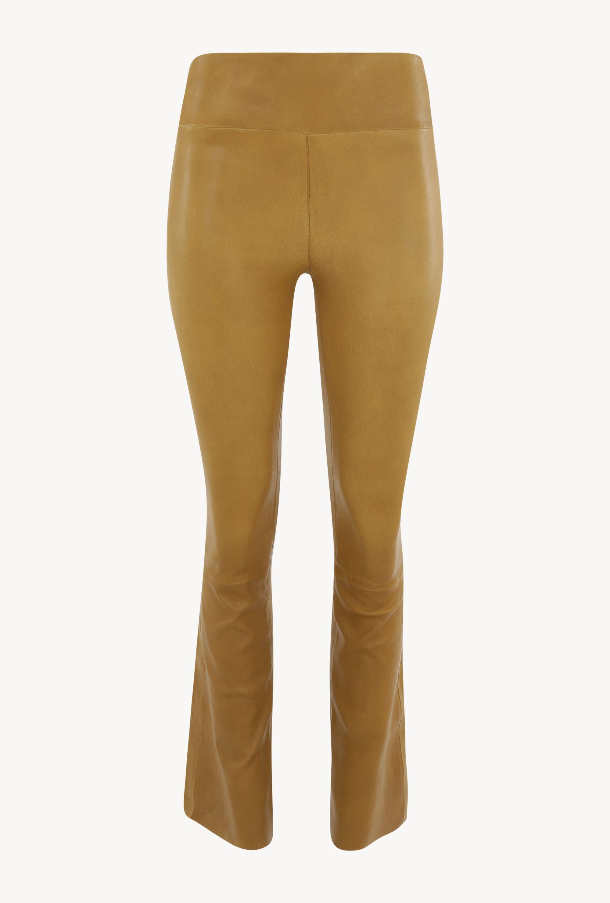 Moss Gold Leather Ankle Flare Legging 2