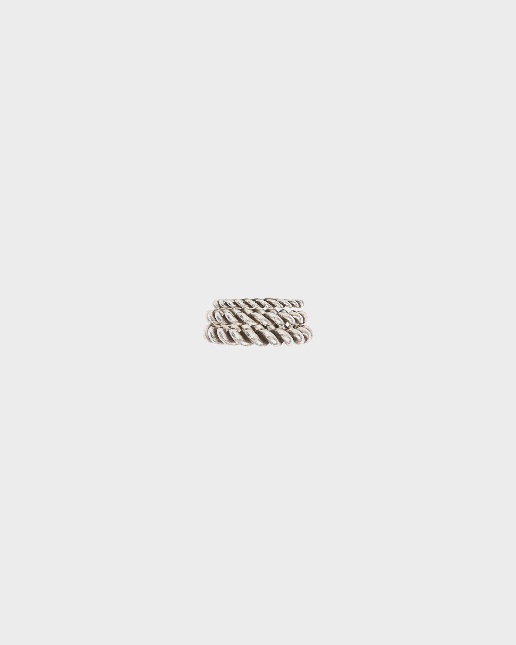 CORLINE TWISTED SILVER RINGS