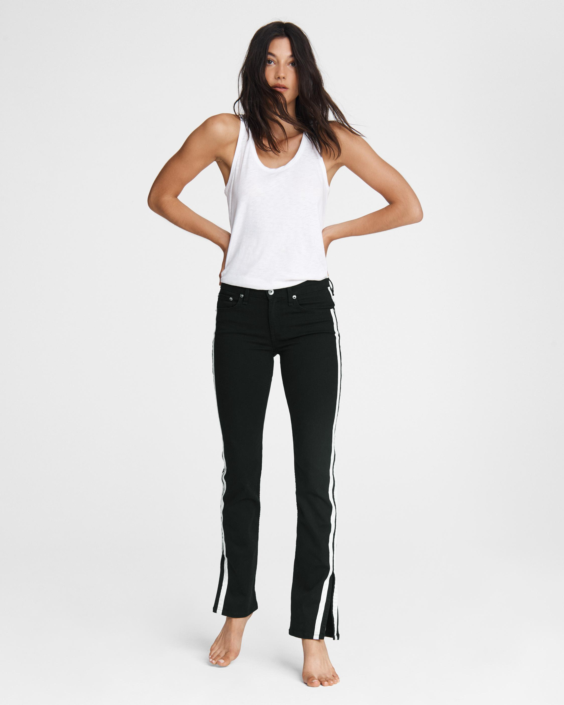 Cate mid-rise flare - clean black 0